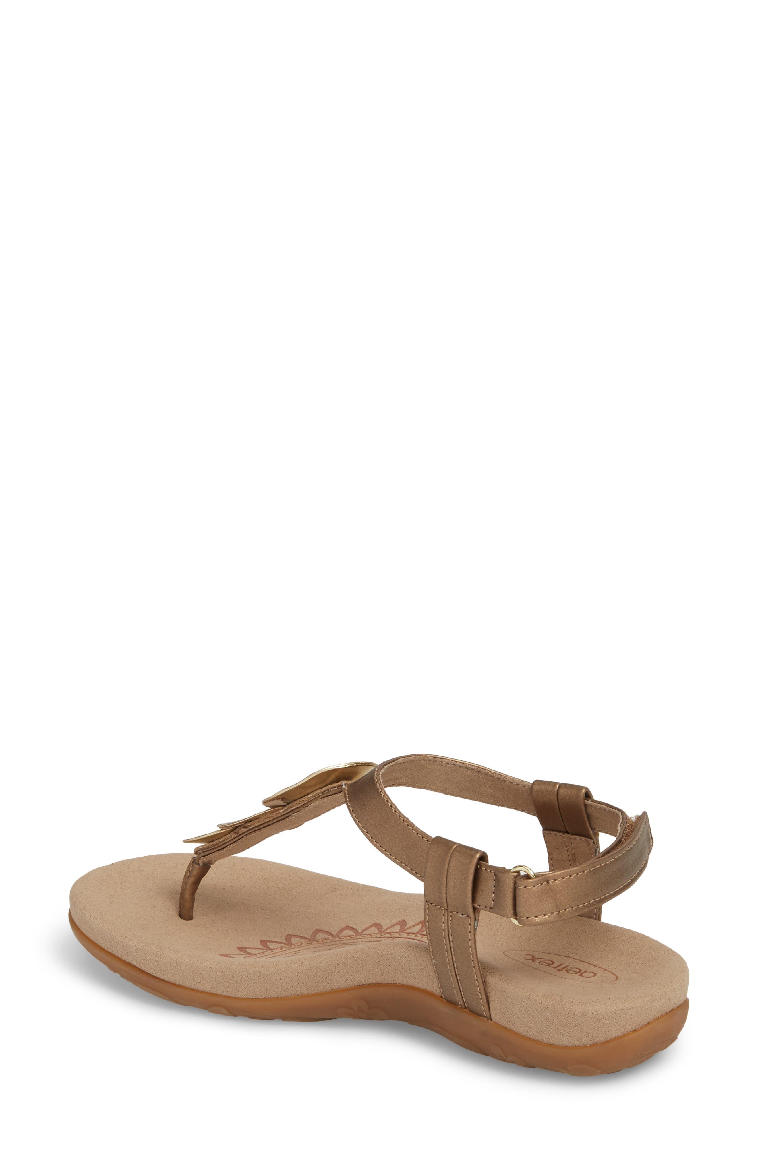 Olive T-Strap Sandal,                             Alternate thumbnail 6, color,