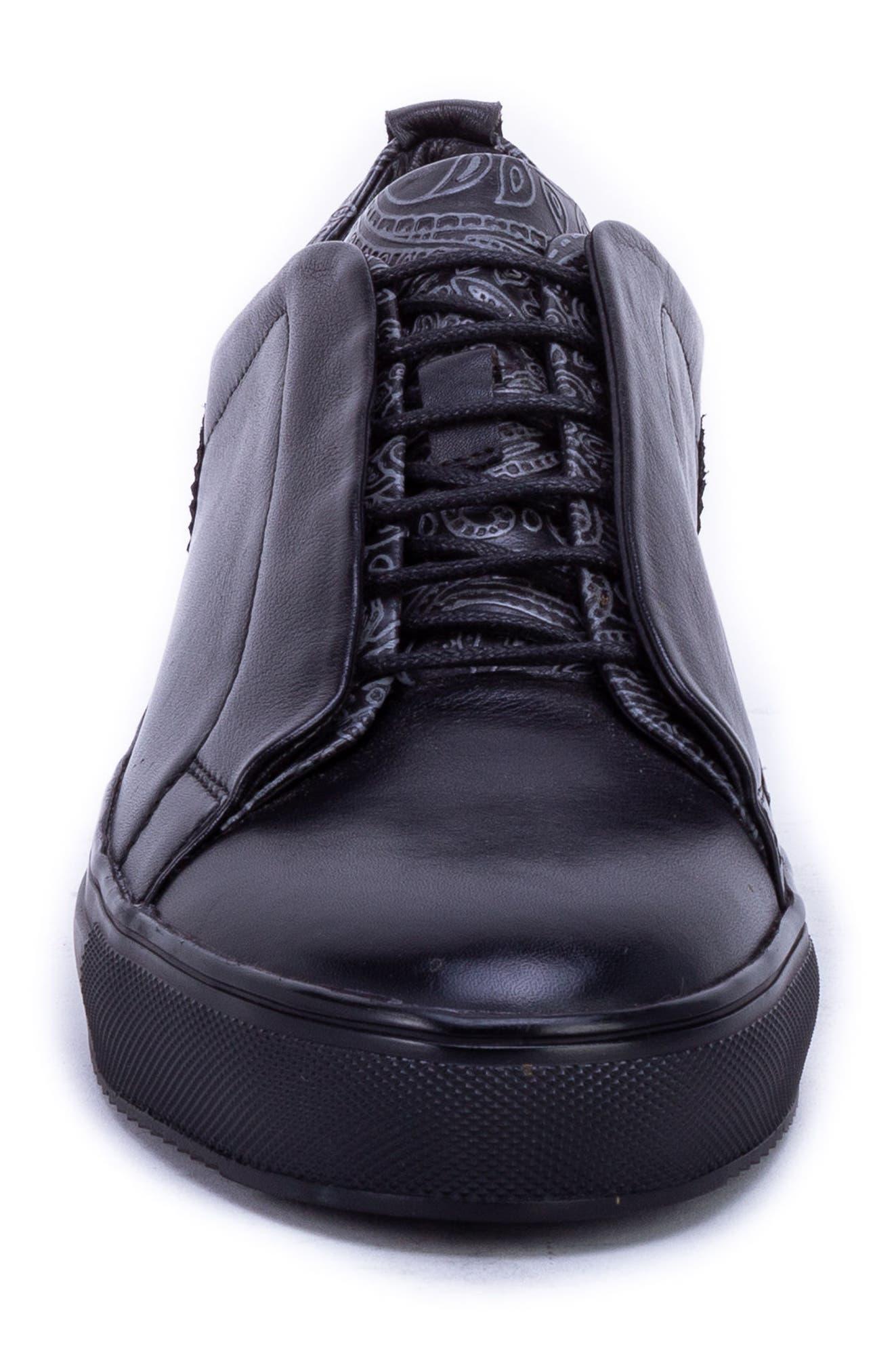 Sharpe Textured Sneaker,                             Alternate thumbnail 4, color,                             001