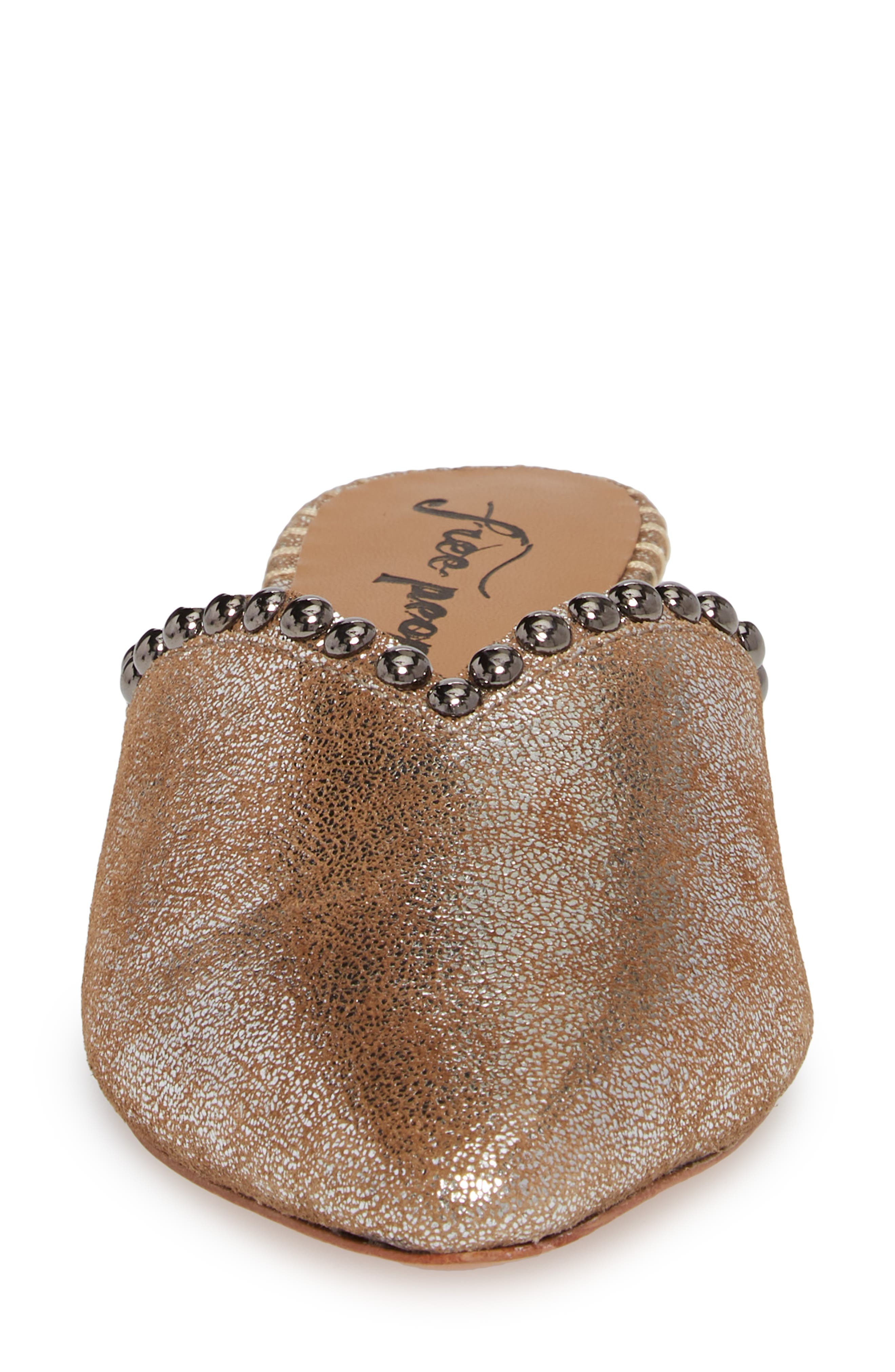 Newport Studded Mule,                             Alternate thumbnail 4, color,                             SILVER