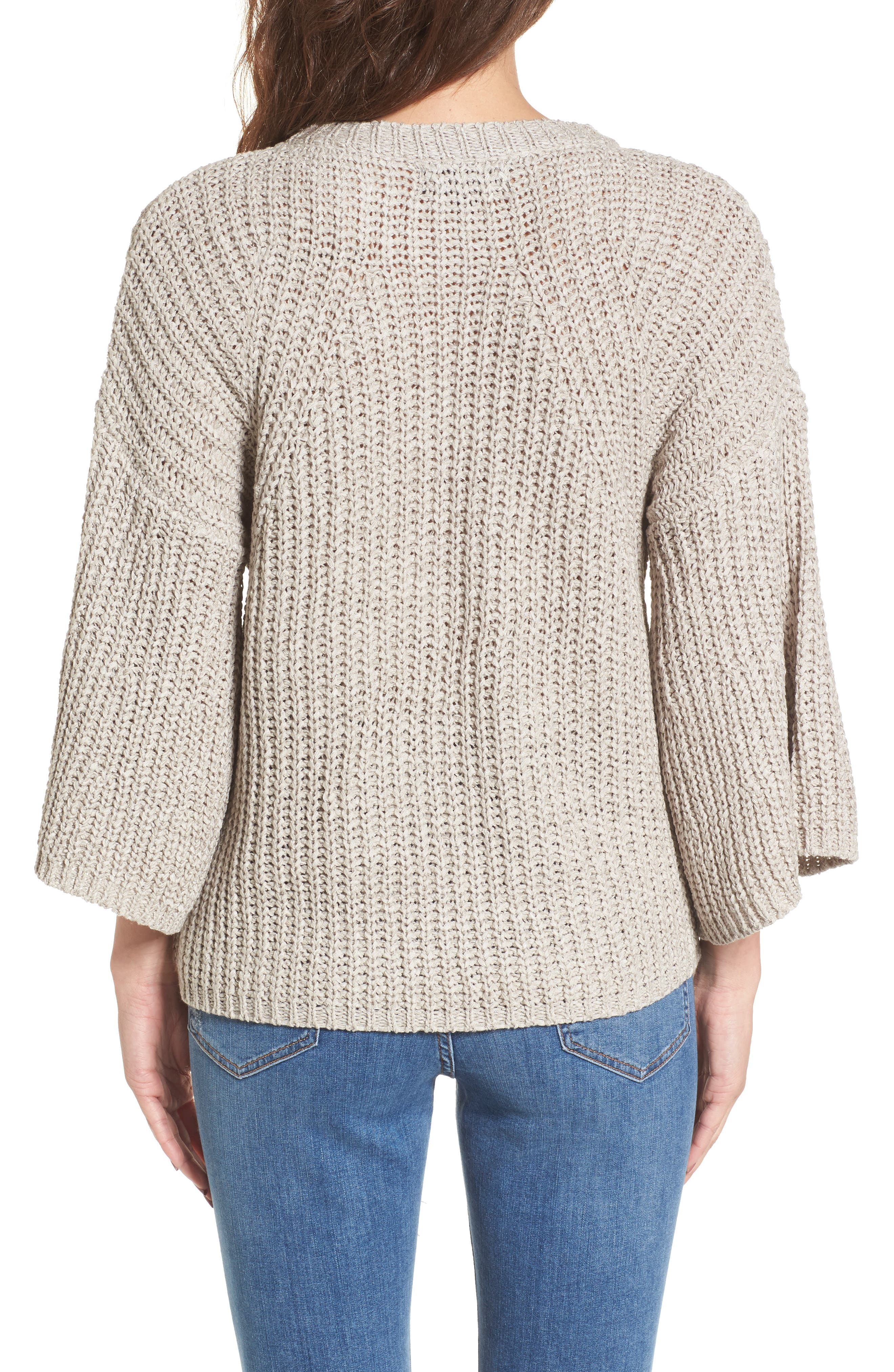 Bell Sleeve Sweater,                             Alternate thumbnail 2, color,                             280