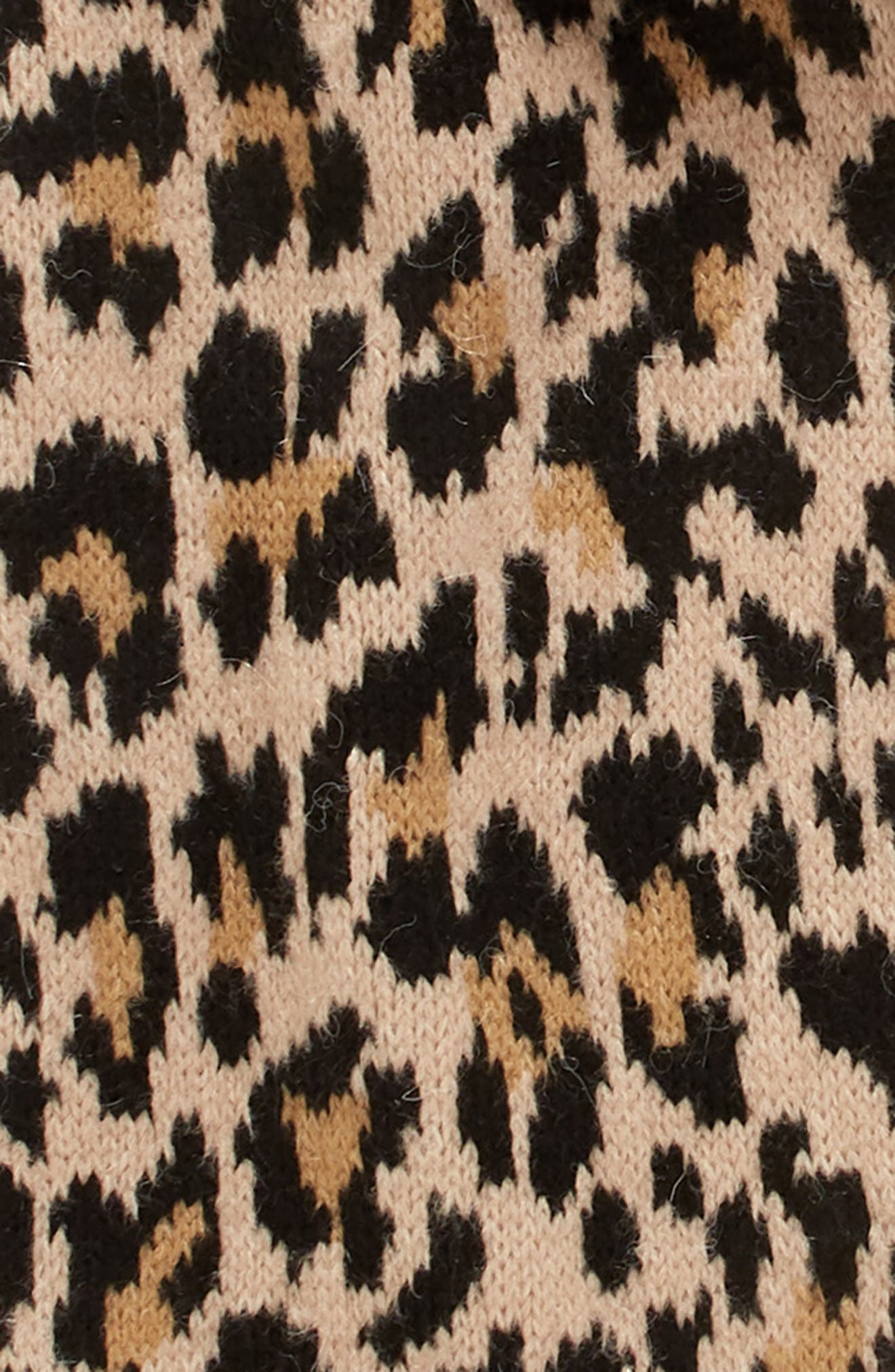 leopard muffler,                             Alternate thumbnail 4, color,                             ROASTED PEANUT