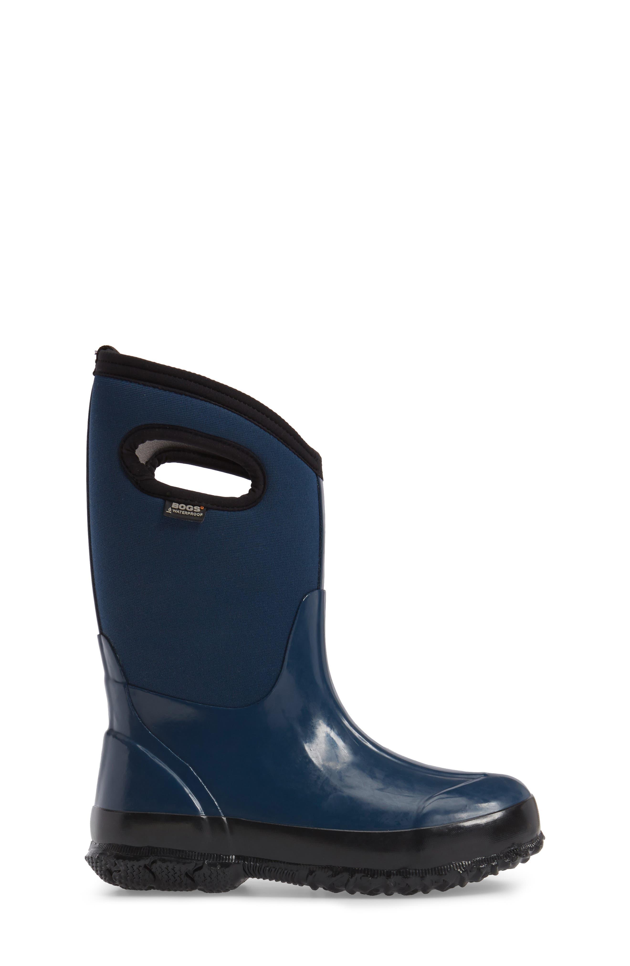 Classic Solid Waterproof Rain Boot,                             Alternate thumbnail 3, color,                             410