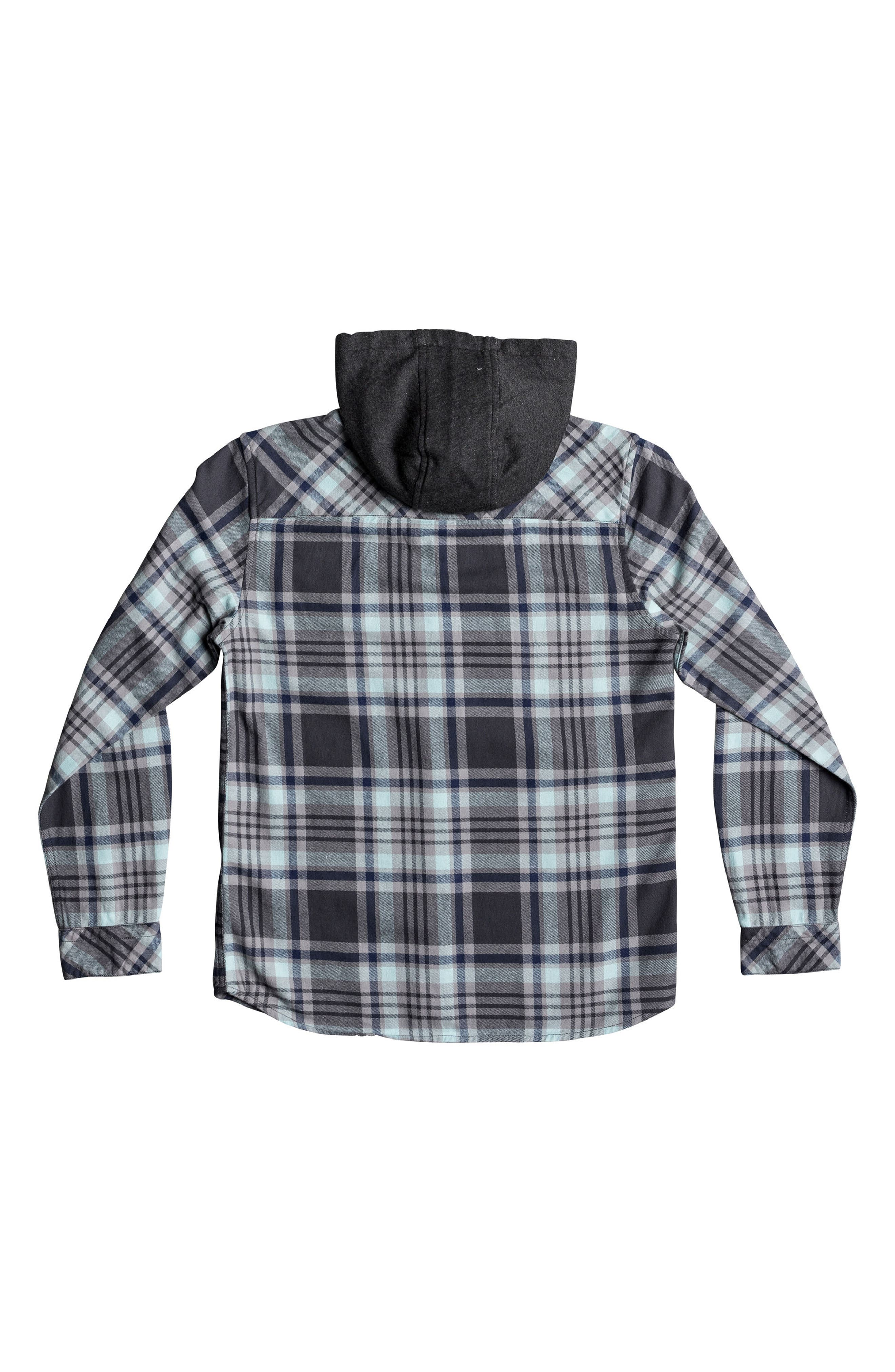 Hooded Tang Plaid Flannel Shirt,                             Alternate thumbnail 4, color,