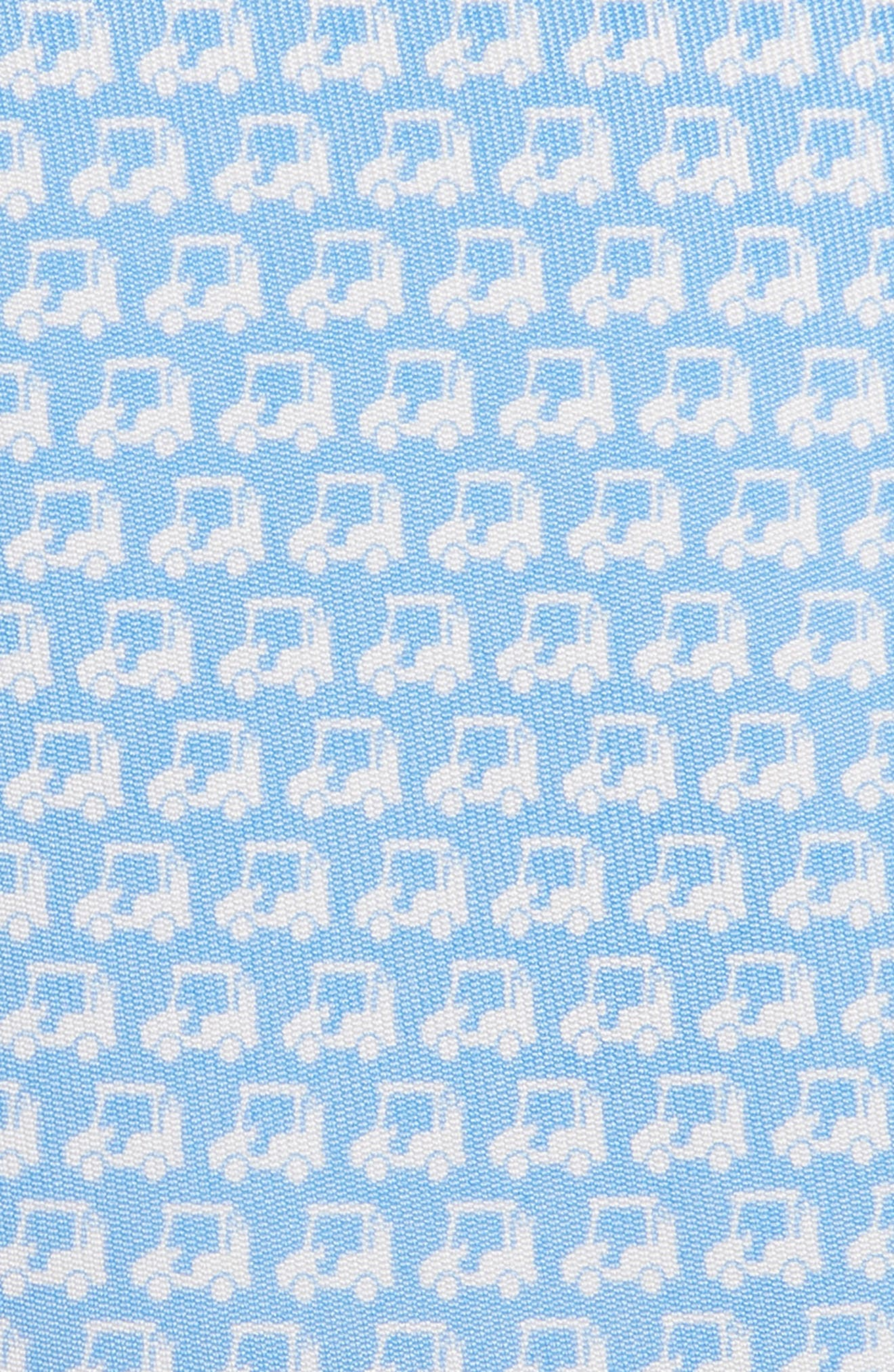 Golf Cart Silk Tie,                             Alternate thumbnail 2, color,                             JAKE BLUE