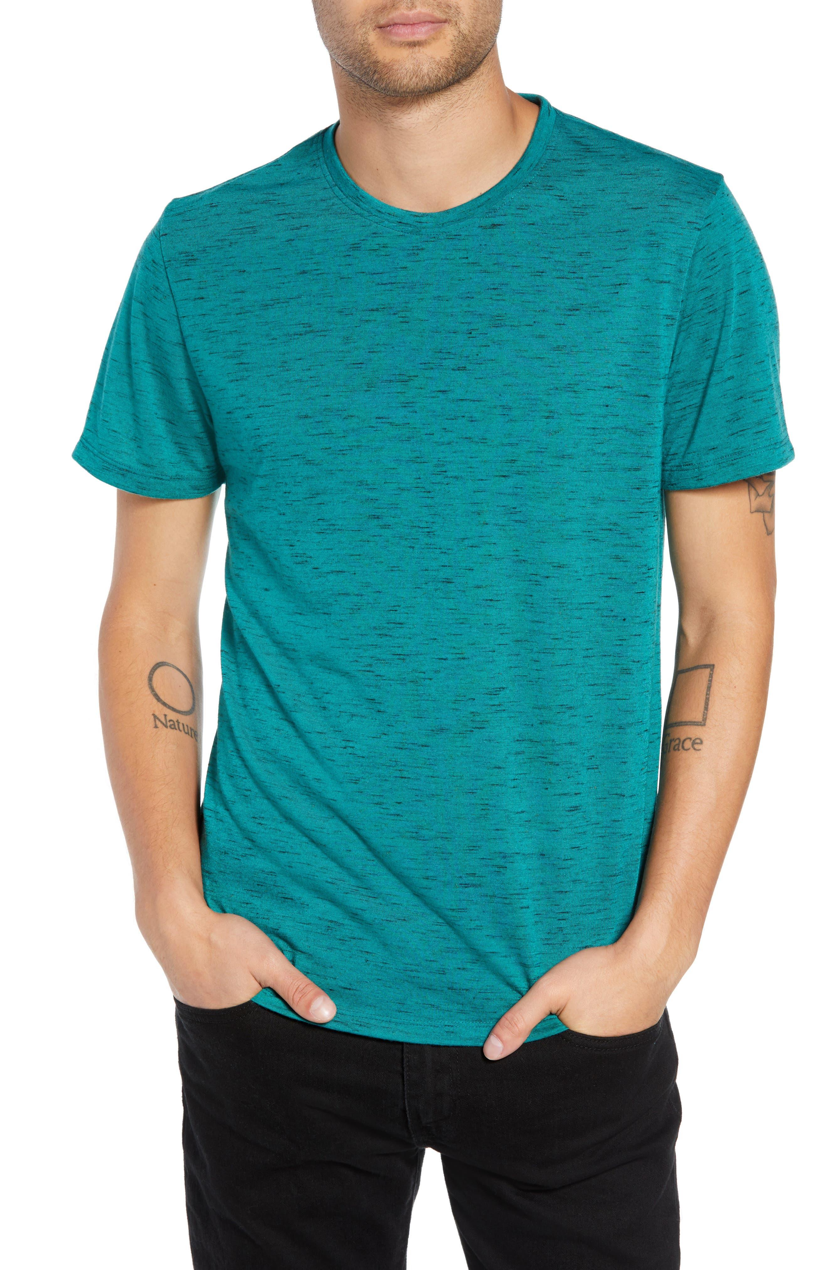 Streaky T-Shirt,                         Main,                         color, TEAL GREEN- BLACK