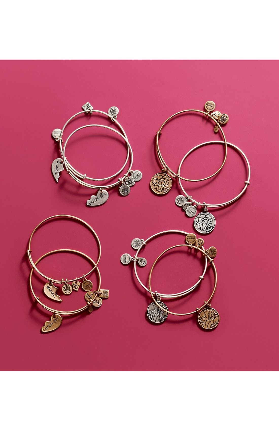 'Charity by Design - Best Friends' Adjustable Wire Bangles,                             Alternate thumbnail 4, color,                             710