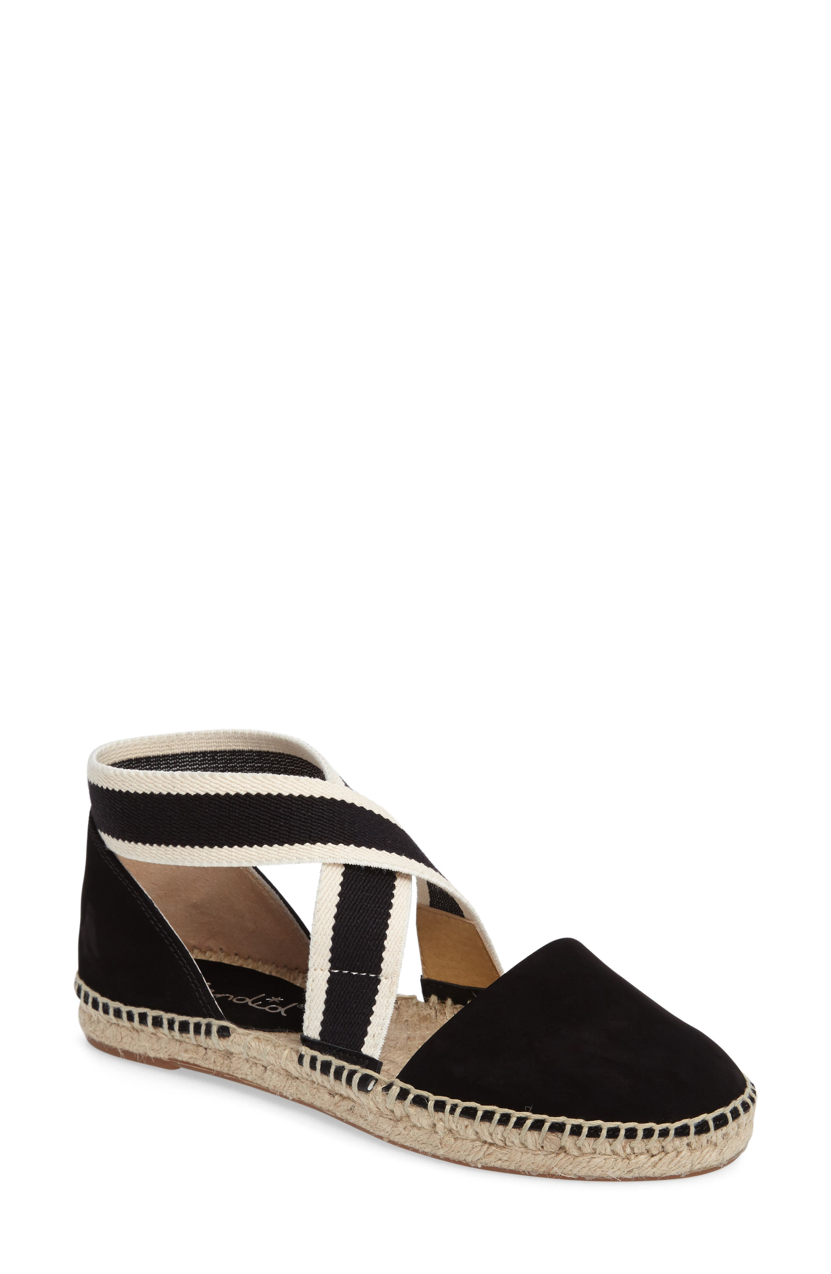 Jamie Strappy Espadrille Flat,                             Main thumbnail 1, color,                             002