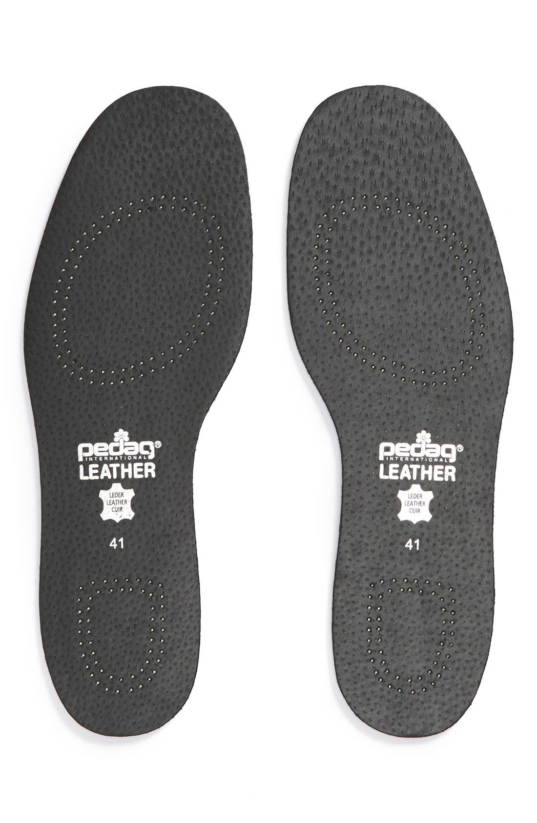 Leather Insole,                         Main,                         color, BLACK