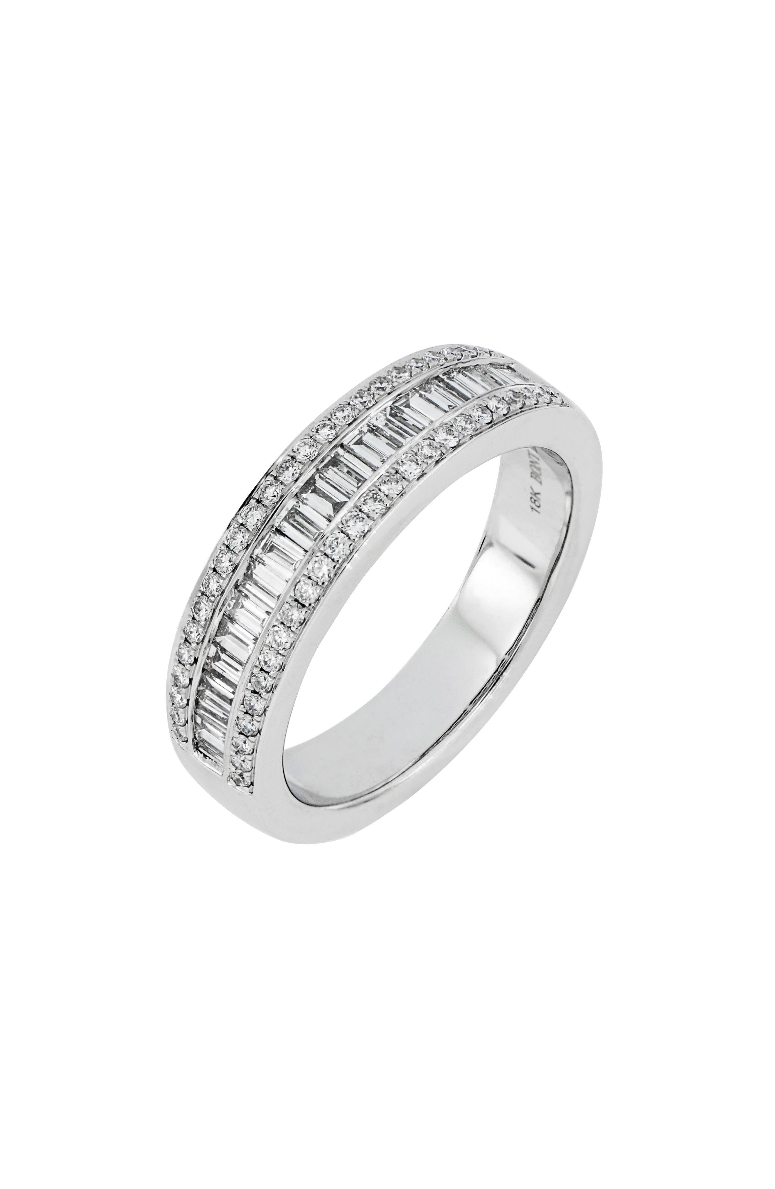 Baguette Diamond Ring,                             Main thumbnail 1, color,                             WHITE GOLD/ DIA