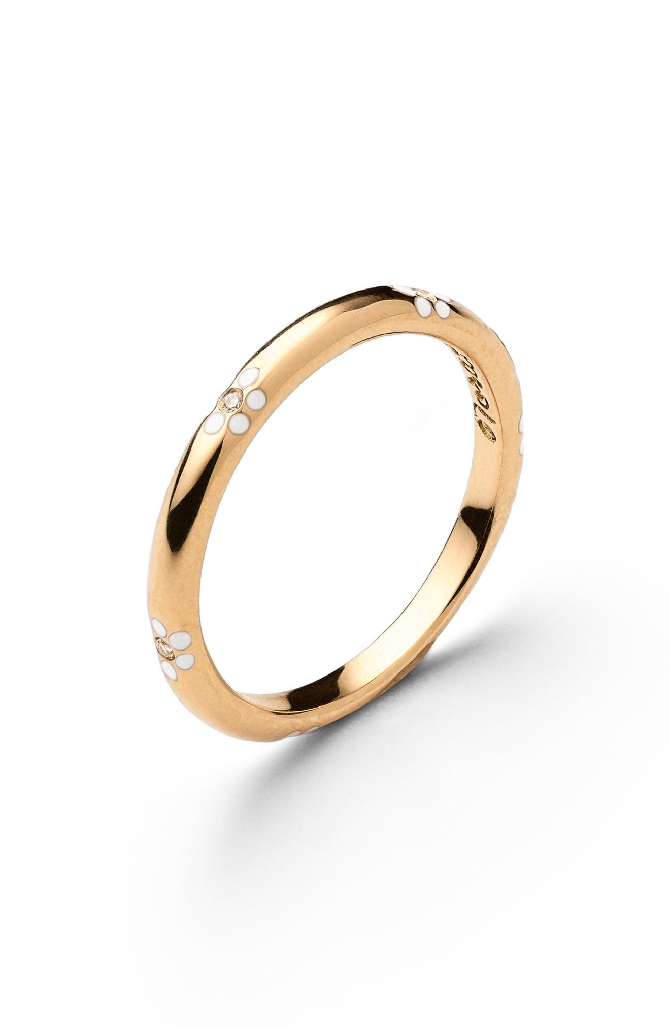 Miss Daisy Stackable Ring,                             Main thumbnail 1, color,                             YELLOW GOLD