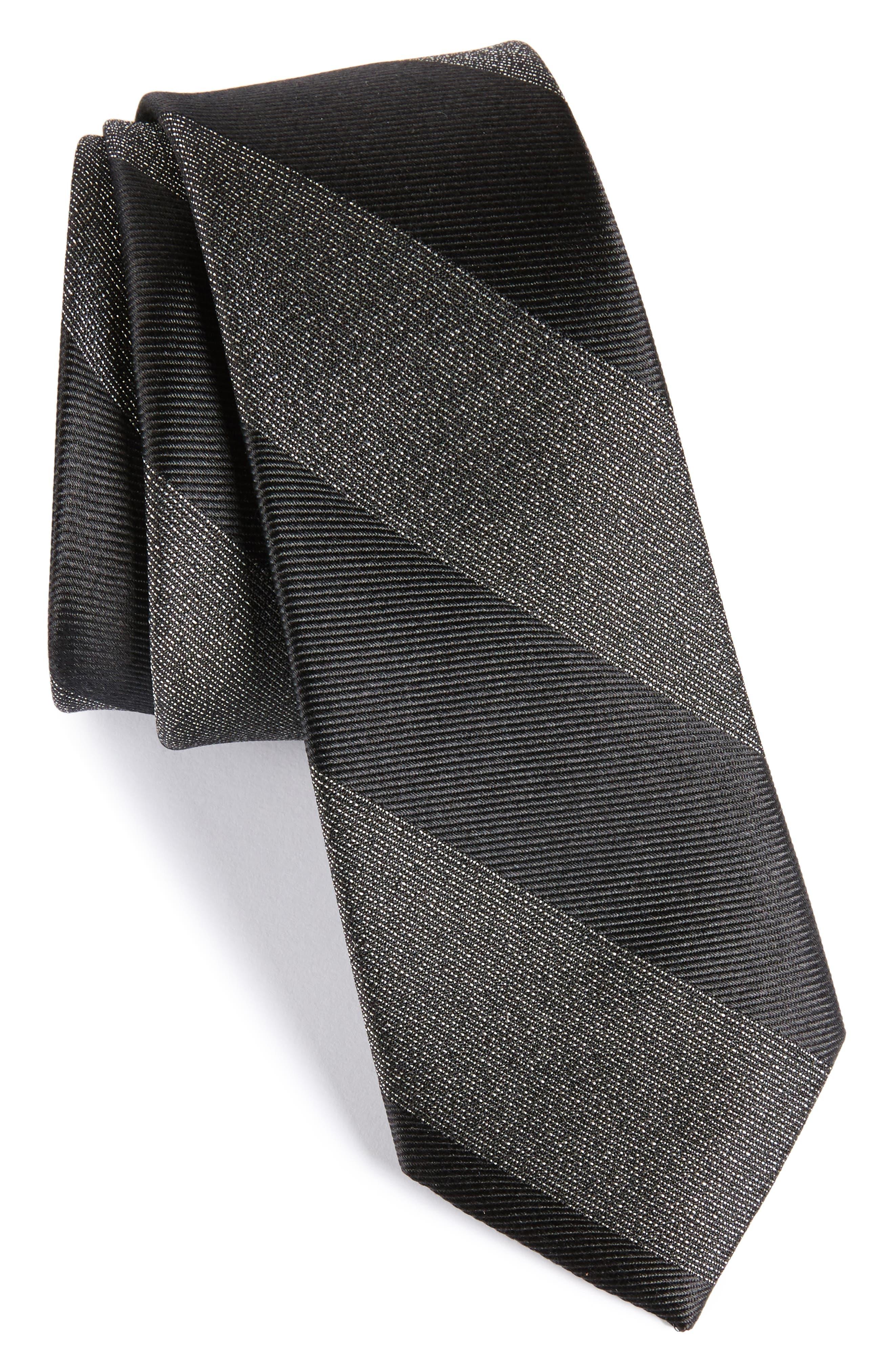 Marble Stripe Silk Tie,                         Main,                         color, 001