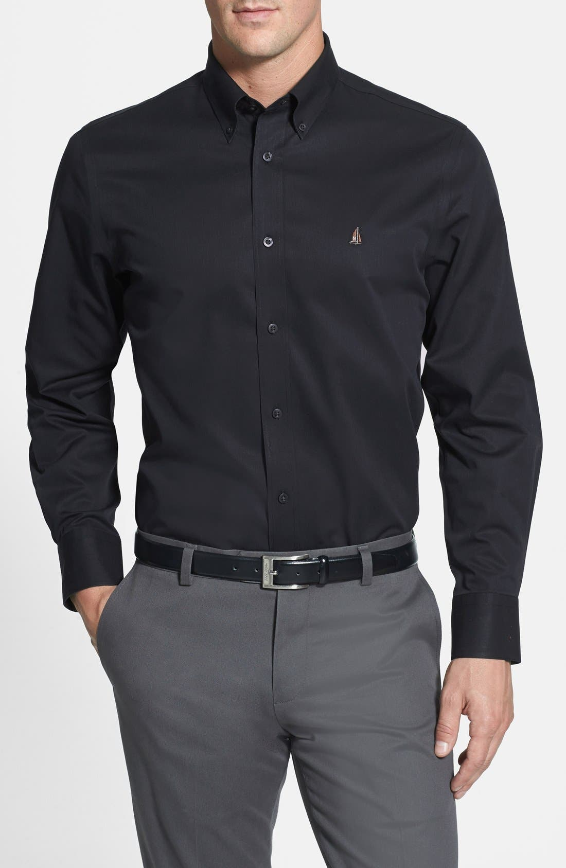 Smartcare<sup>™</sup> Traditional Fit Twill Boat Shirt,                             Main thumbnail 4, color,