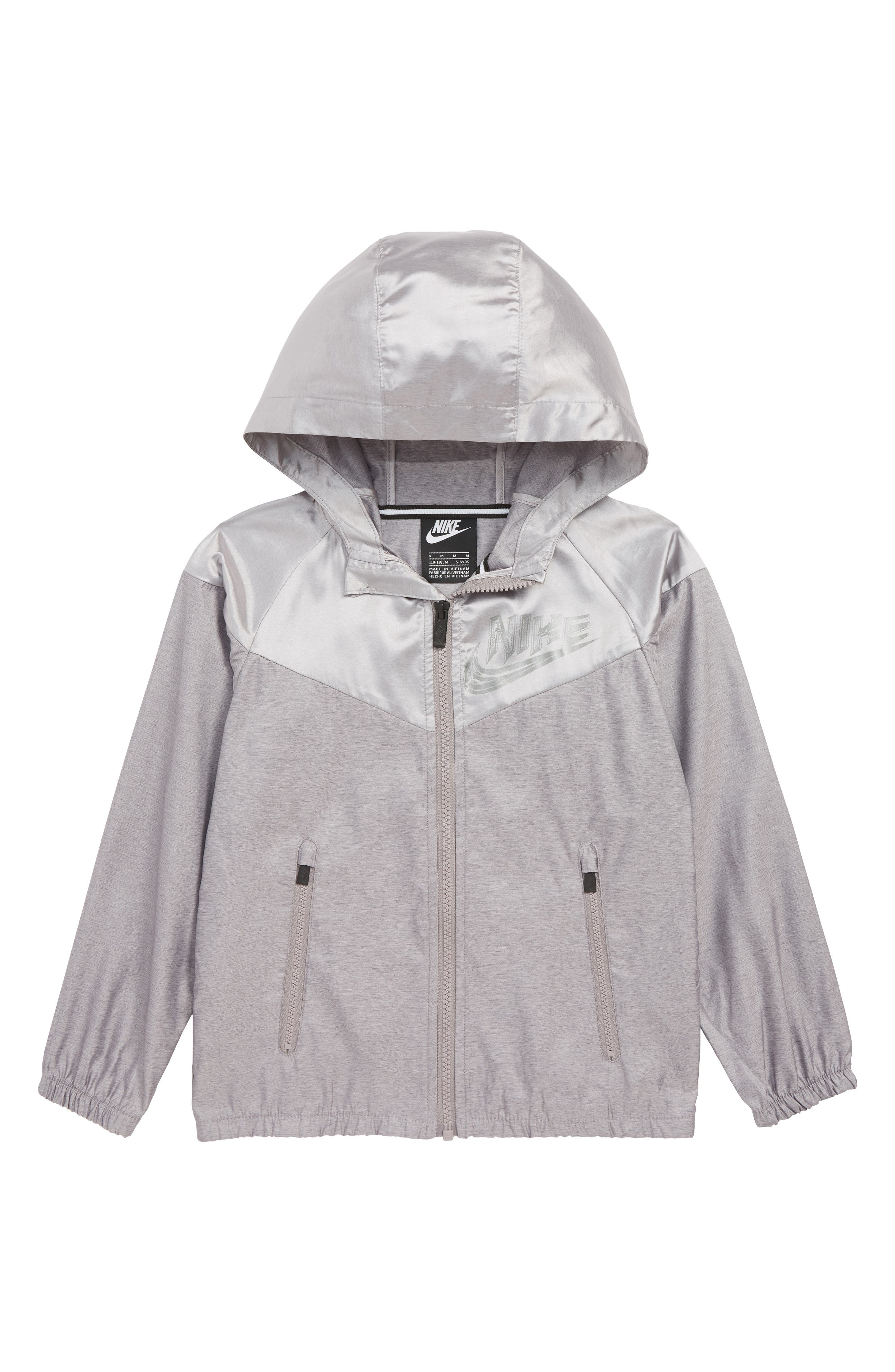 NIKE,                             Sportswear Windrunner Jacket,                             Main thumbnail 1, color,                             GUNSMOKE