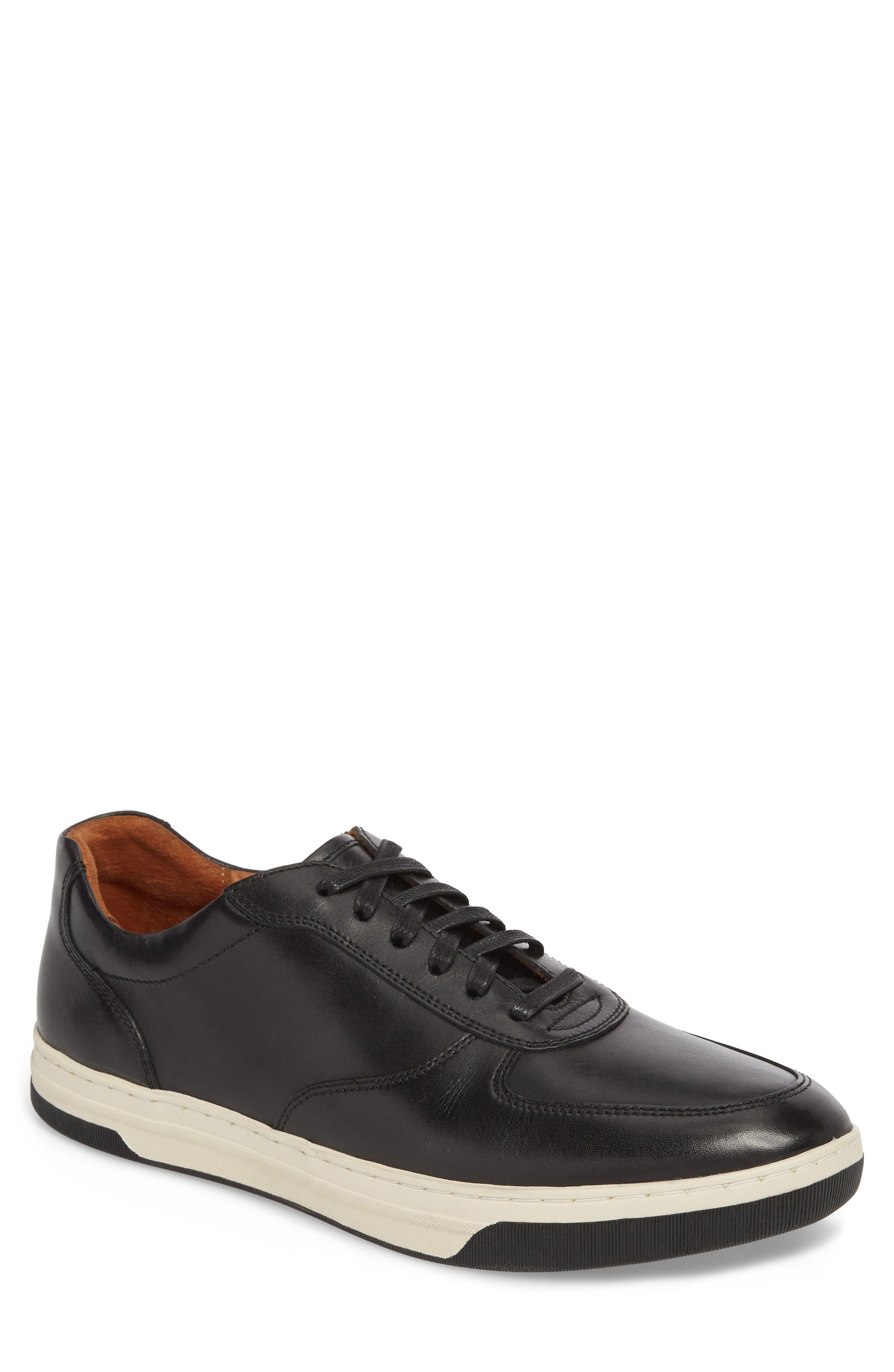 Fenton Low Top Sneaker,                             Main thumbnail 1, color,                             BLACK LEATHER