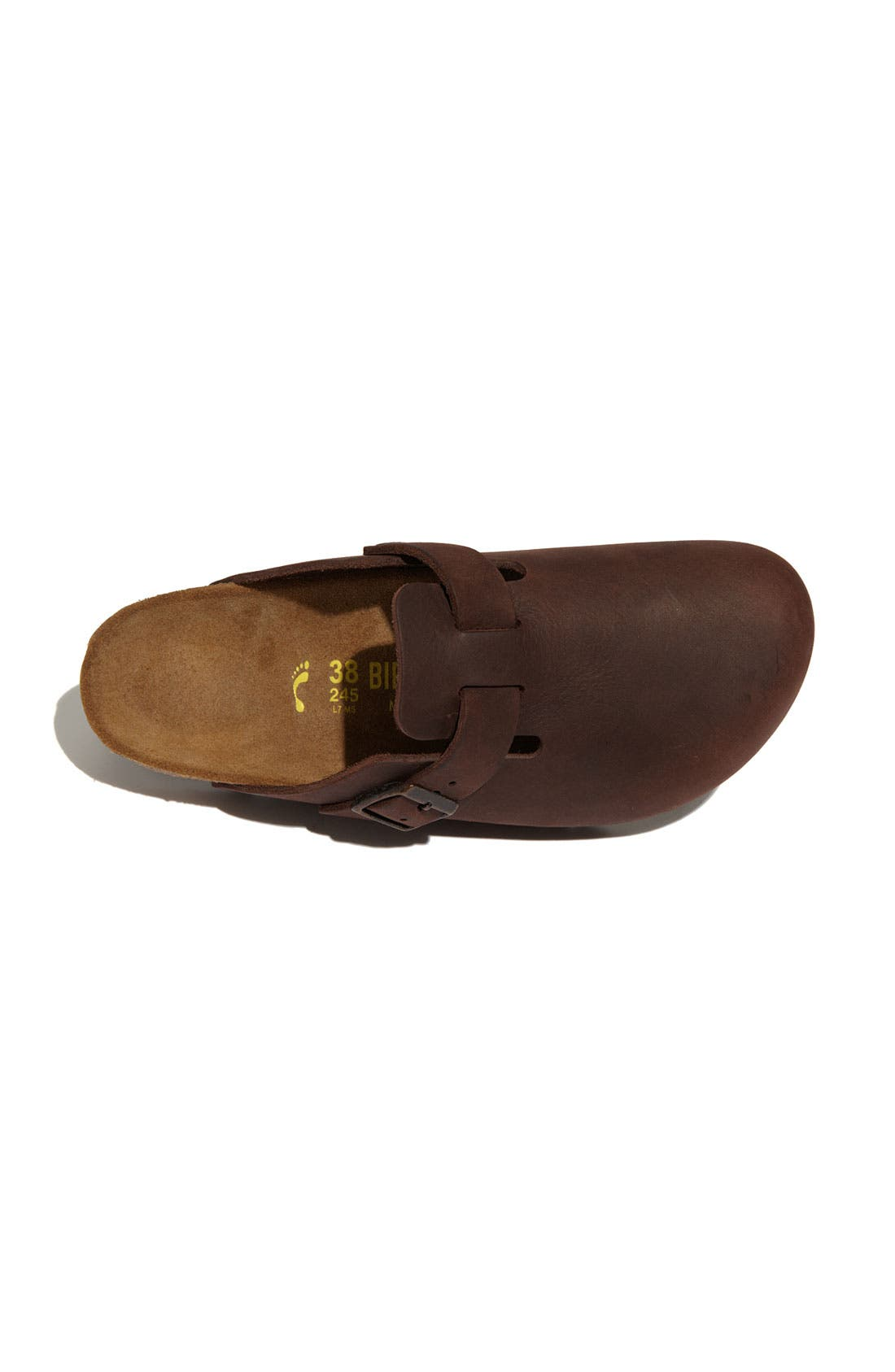 'Boston' Classic Oiled Leather Clog,                             Alternate thumbnail 19, color,