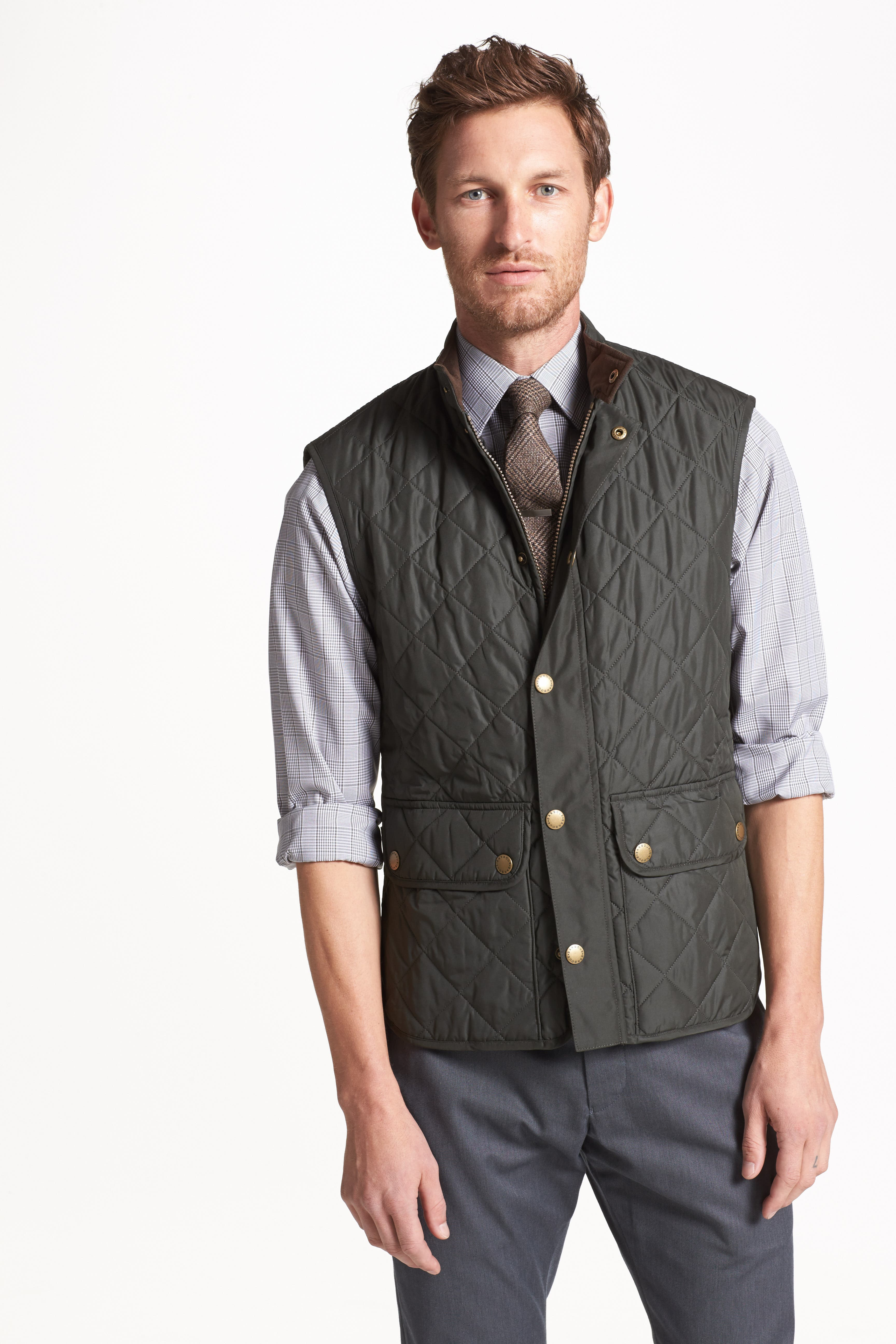 Lowerdale Quilted Vest,                             Alternate thumbnail 3, color,                             DARK GREEN