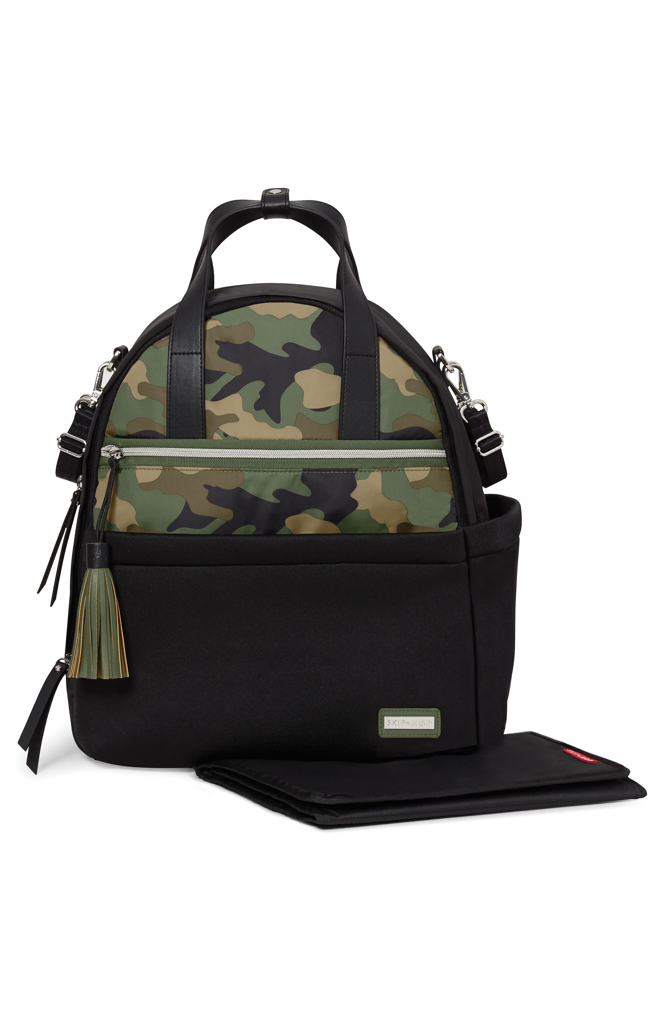Nolita Neoprene Diaper Backpack,                             Alternate thumbnail 2, color,                             BLACK/ DARK CAMO
