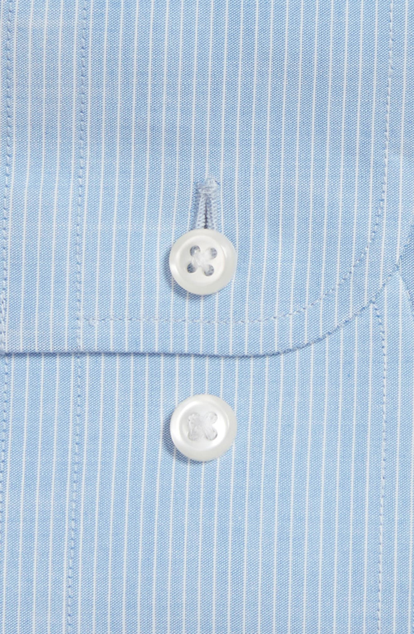 Trim Fit Stripe Dress Shirt,                             Alternate thumbnail 2, color,                             450