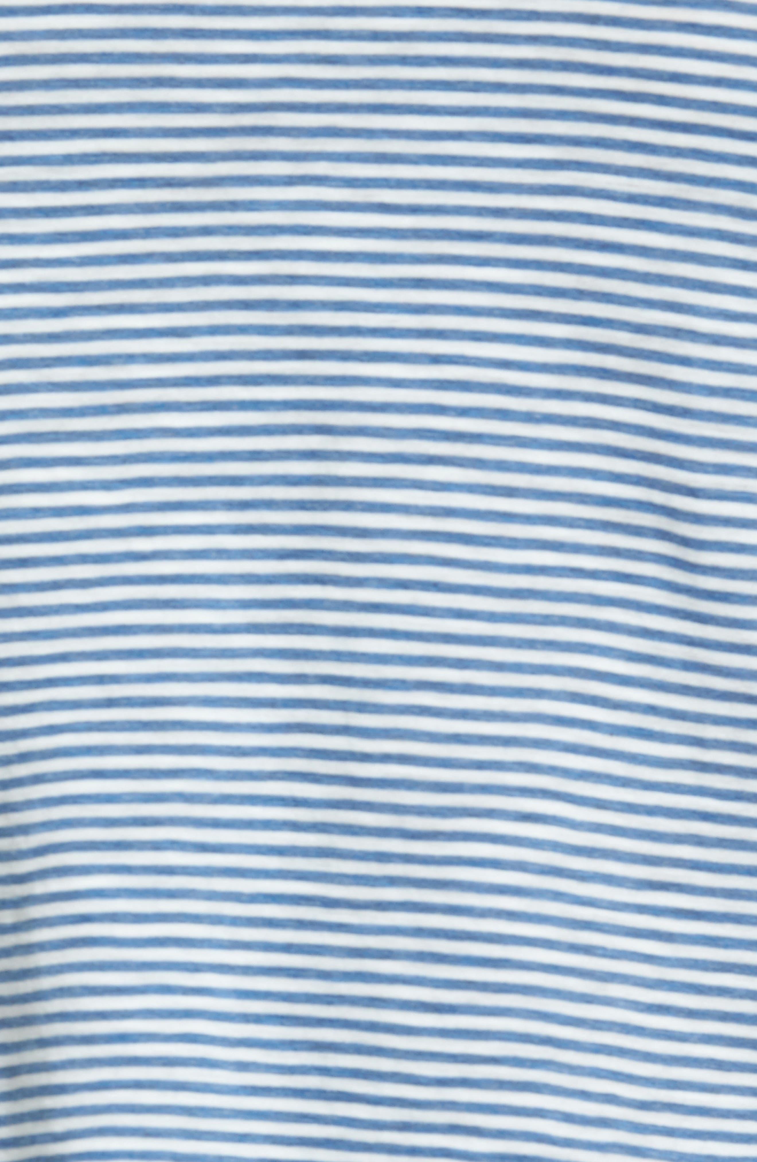 Stripe Whisper Cotton Tank,                             Alternate thumbnail 5, color,                             401
