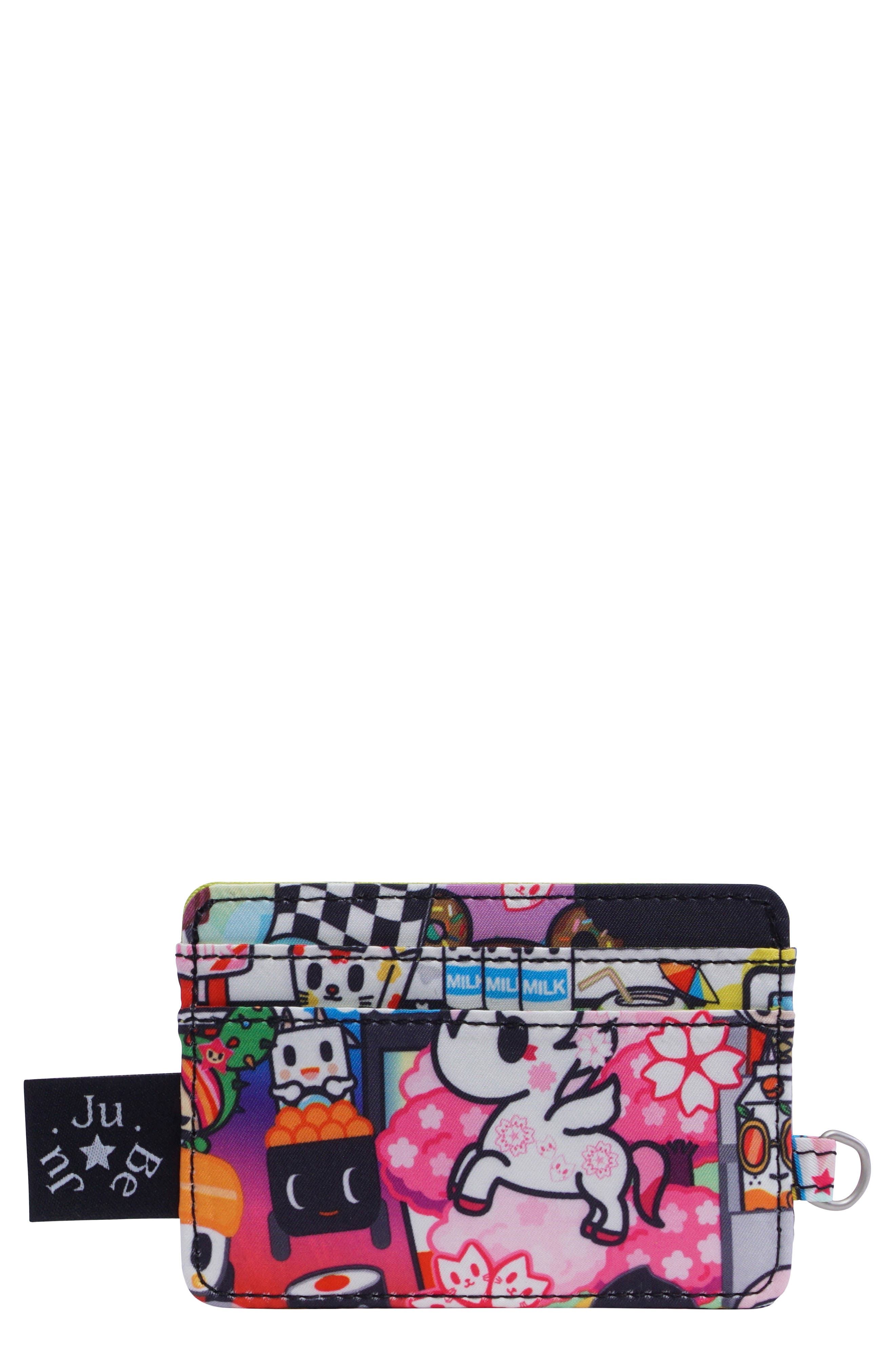 x tokidoki Be Charged Card Case,                         Main,                         color, SUSHI CARS