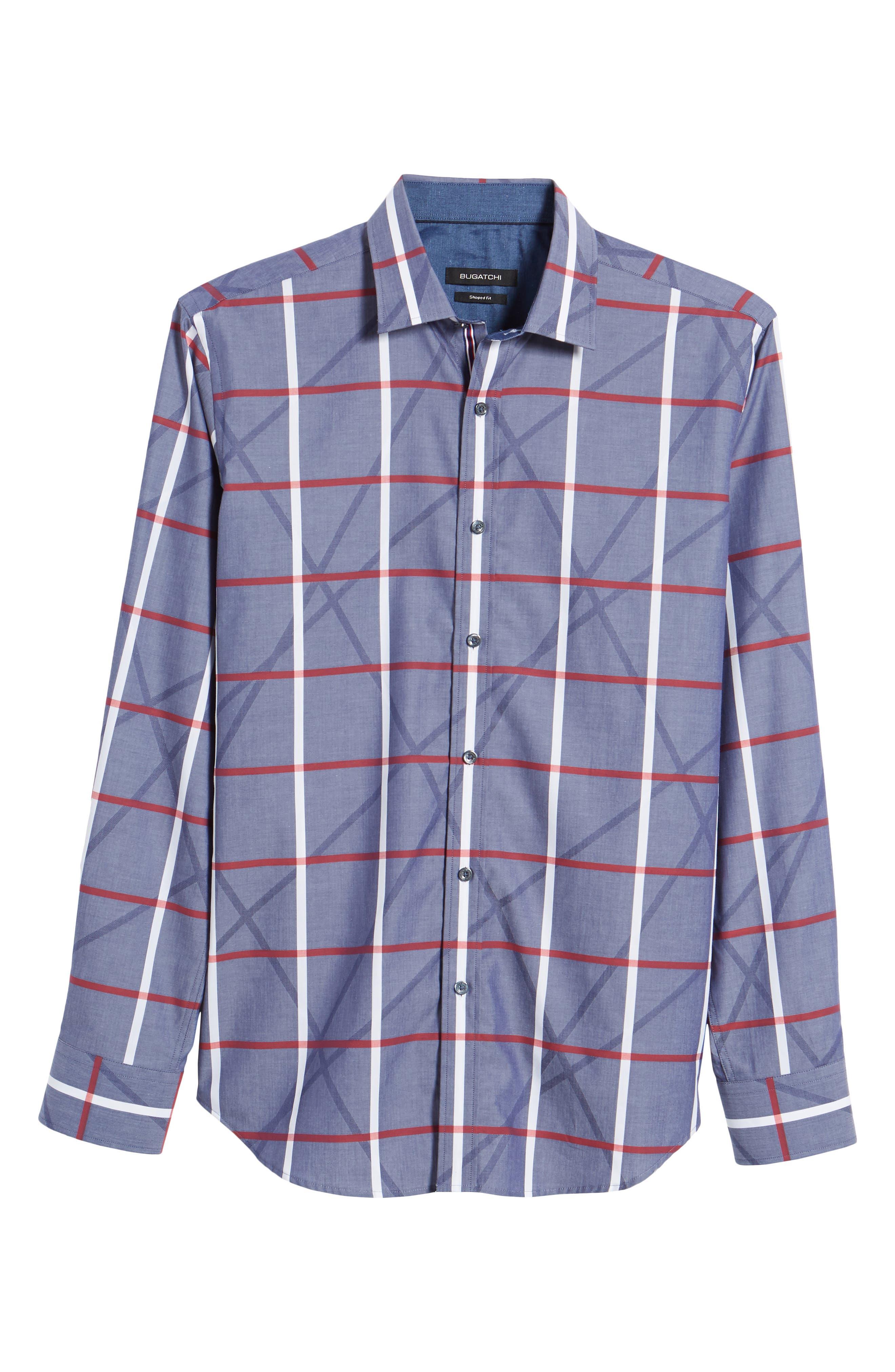 Woven Sport Shirt,                             Alternate thumbnail 6, color,                             411