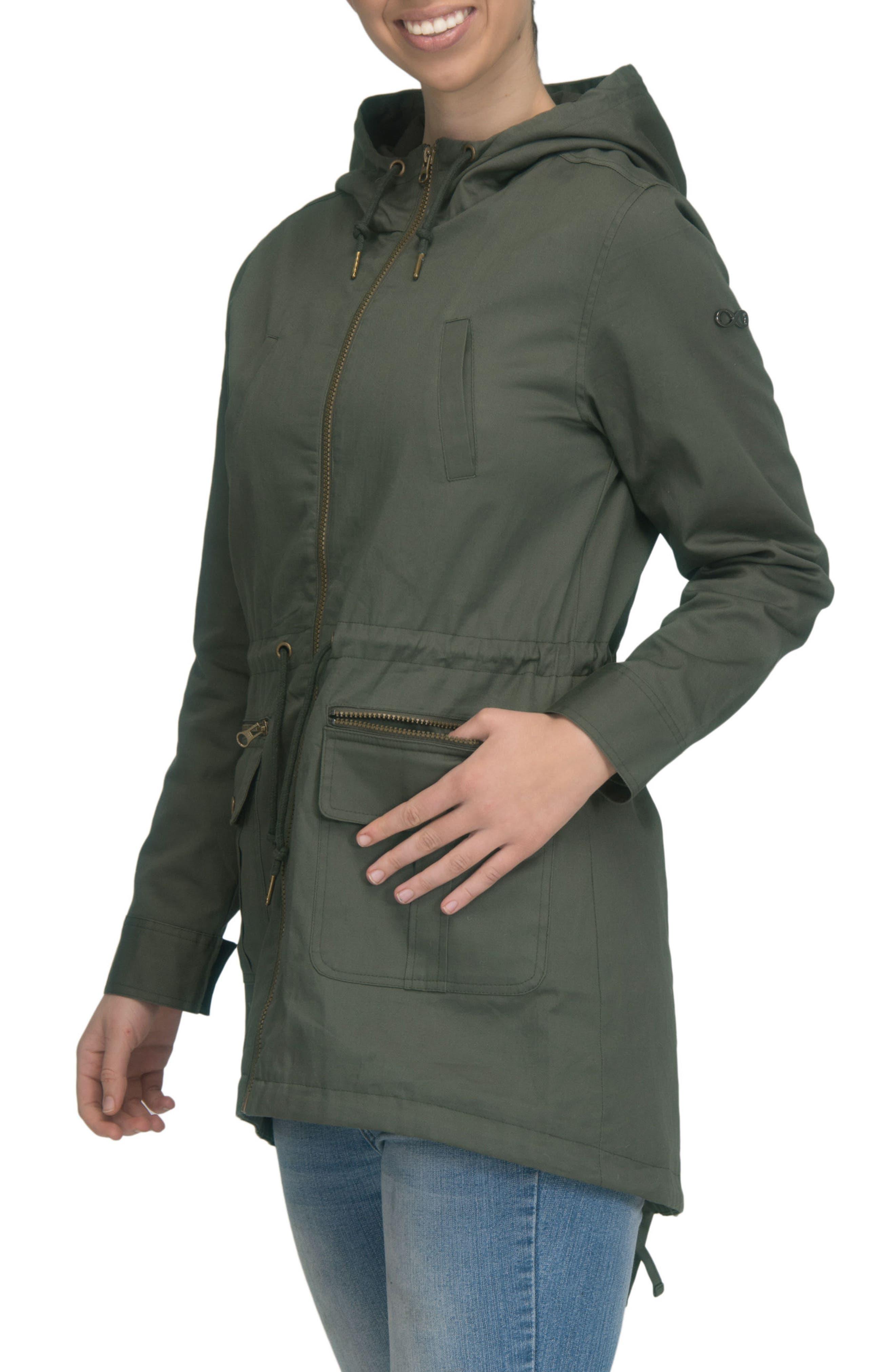 Convertible Military 3-in-1 Maternity/Nursing Jacket,                             Alternate thumbnail 5, color,                             KHAKI GREEN