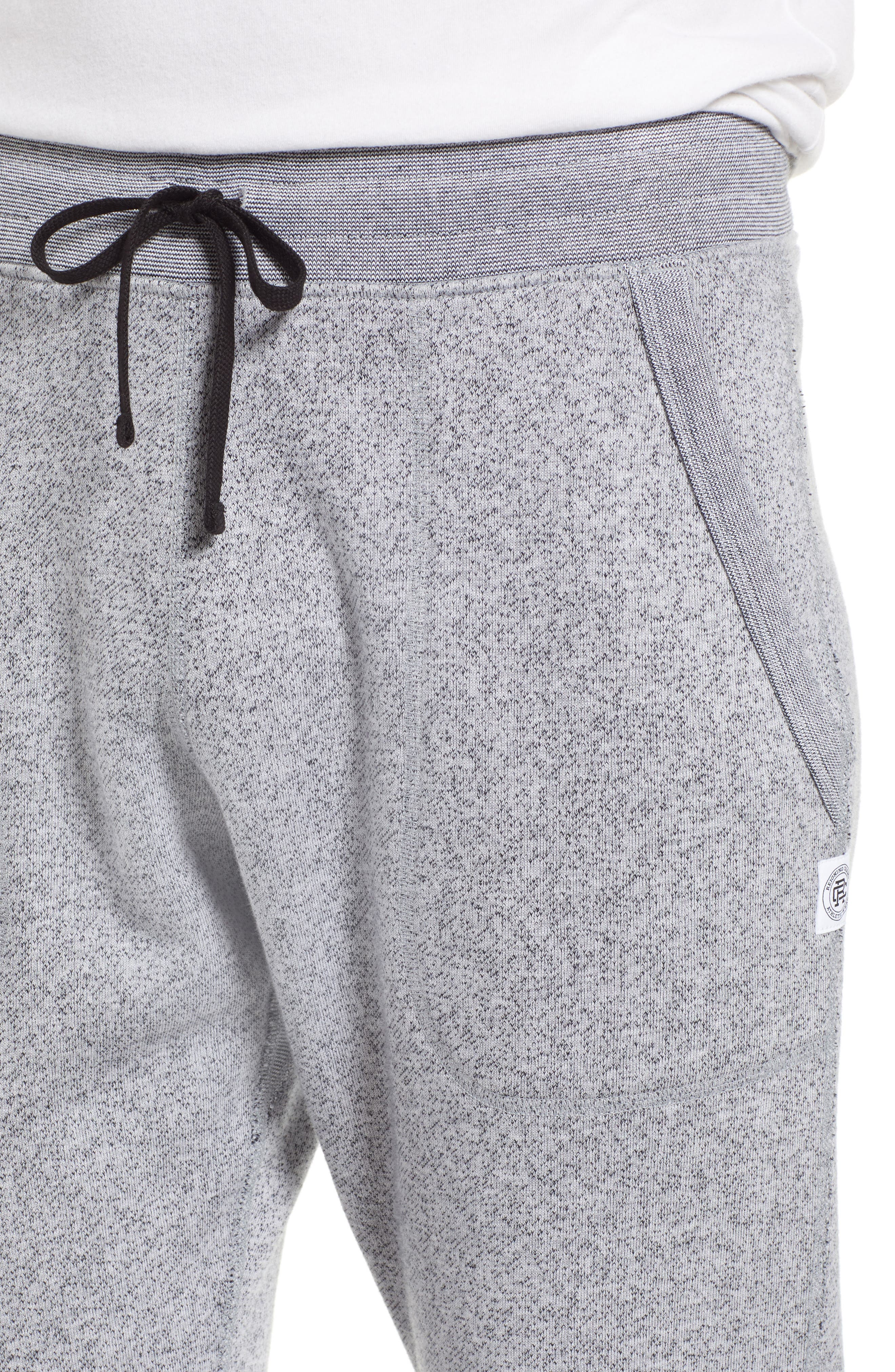 Tiger Slim Jogger Sweatpants,                             Alternate thumbnail 4, color,                             WHITE
