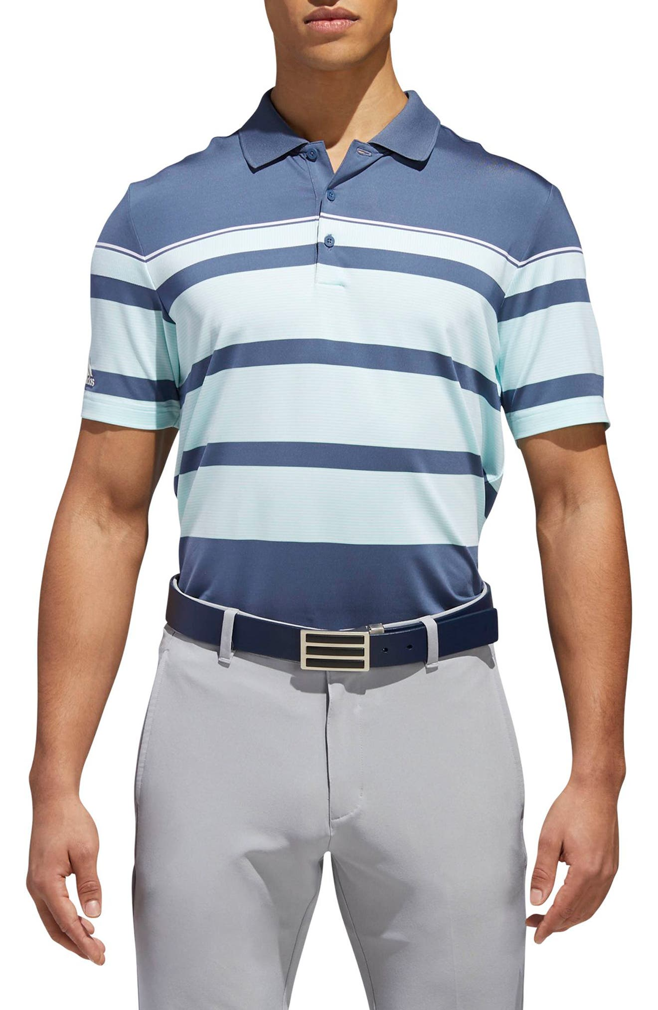 Stripe Fashion Tech Polo,                         Main,                         color, 407