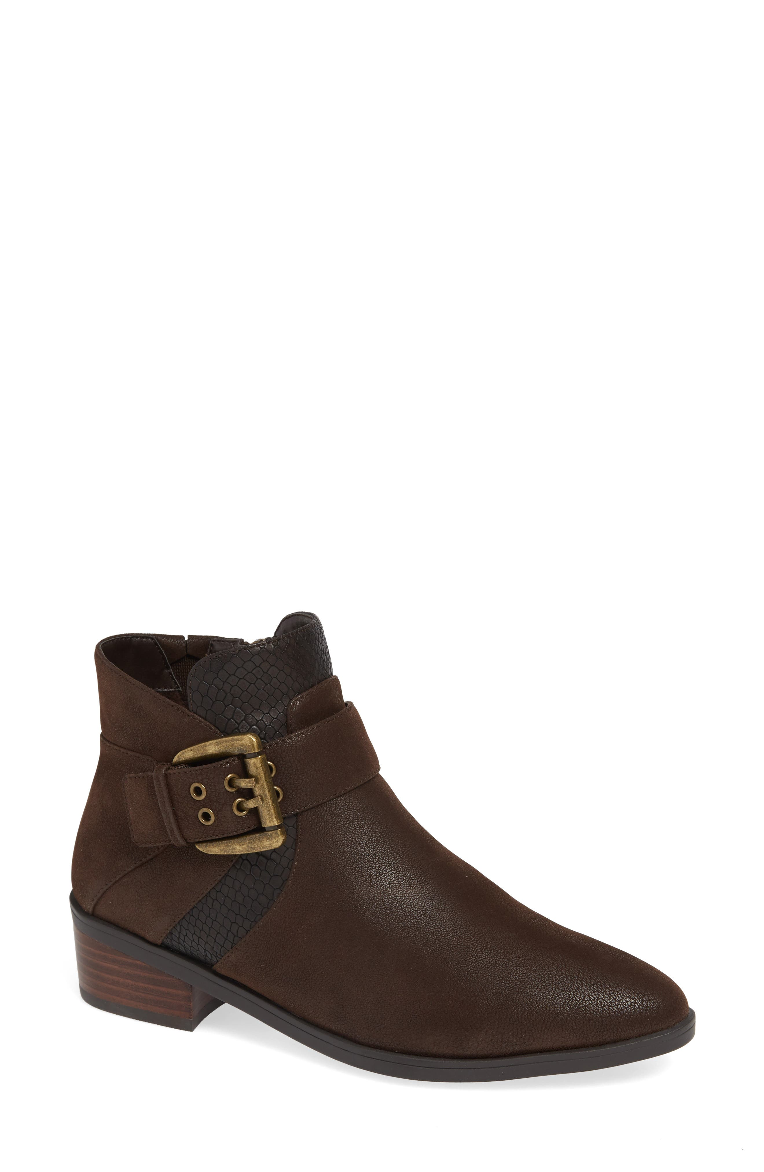 Honor II Bootie,                             Main thumbnail 1, color,                             BROWN LEATHER