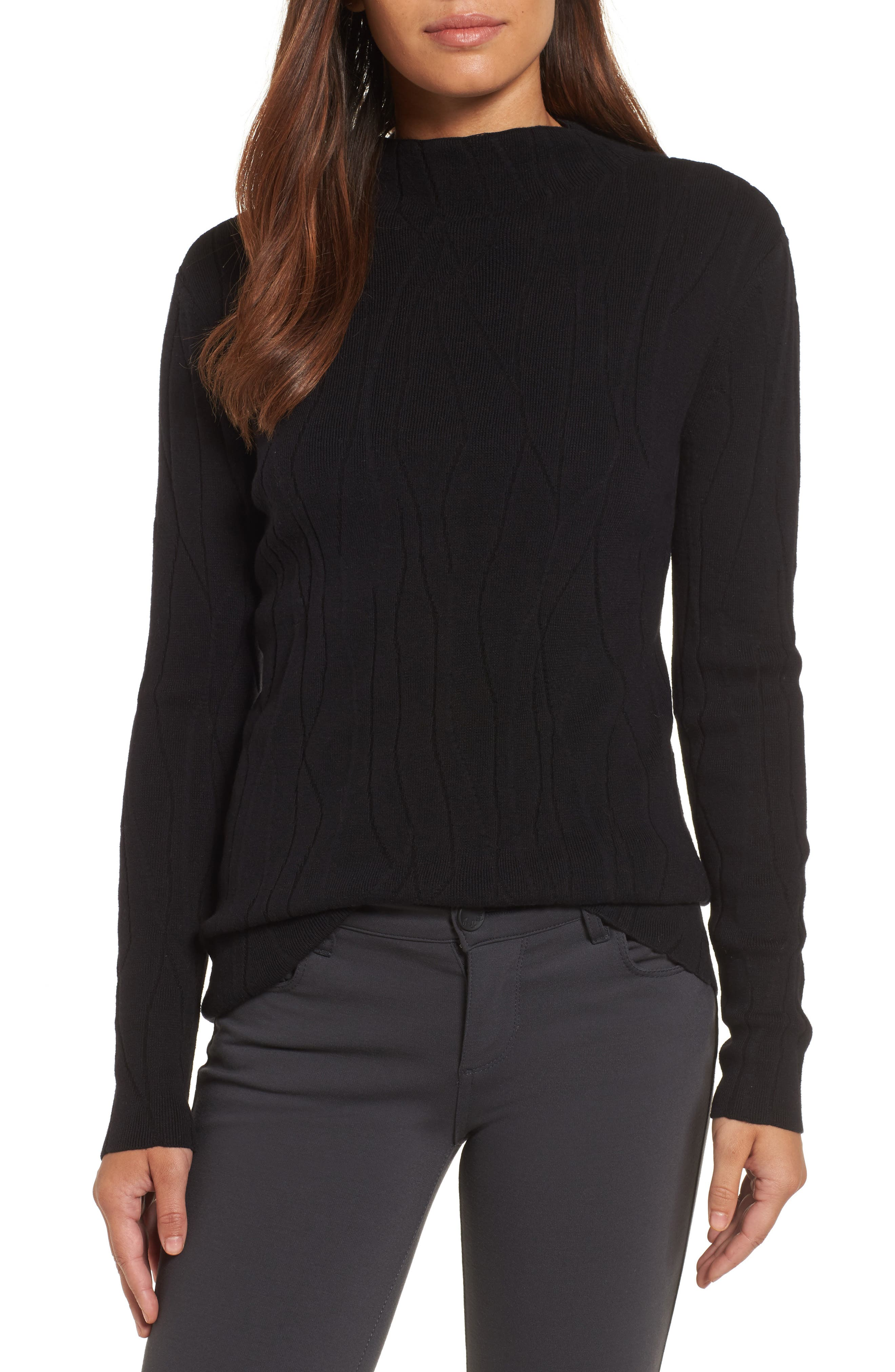 Artisanal Crackle Jacquard Sweater,                         Main,                         color, 004