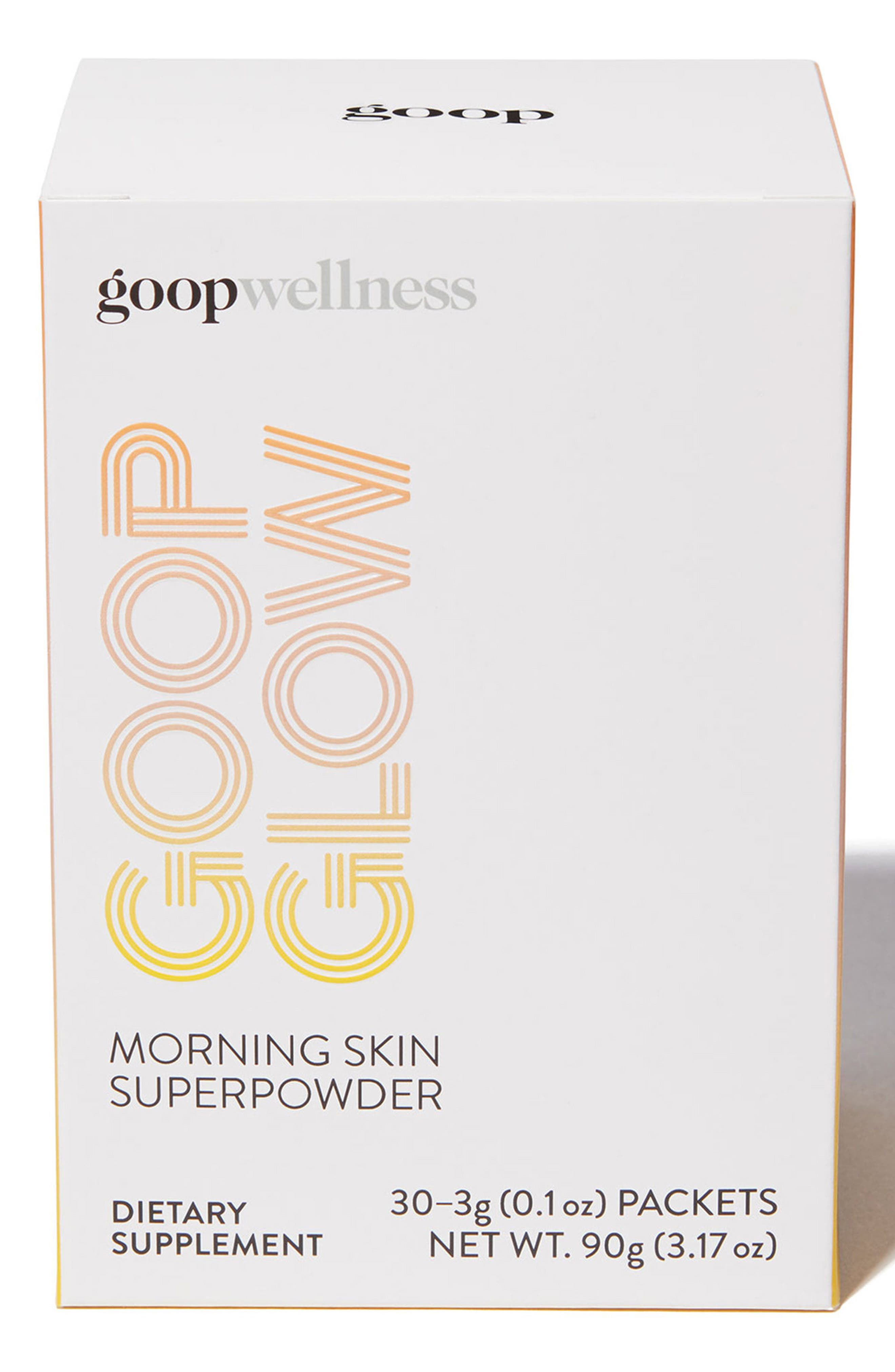 GOOP,                             GOOPGLOW Morning Skin Superpowder Dietary Supplement,                             Main thumbnail 1, color,                             000