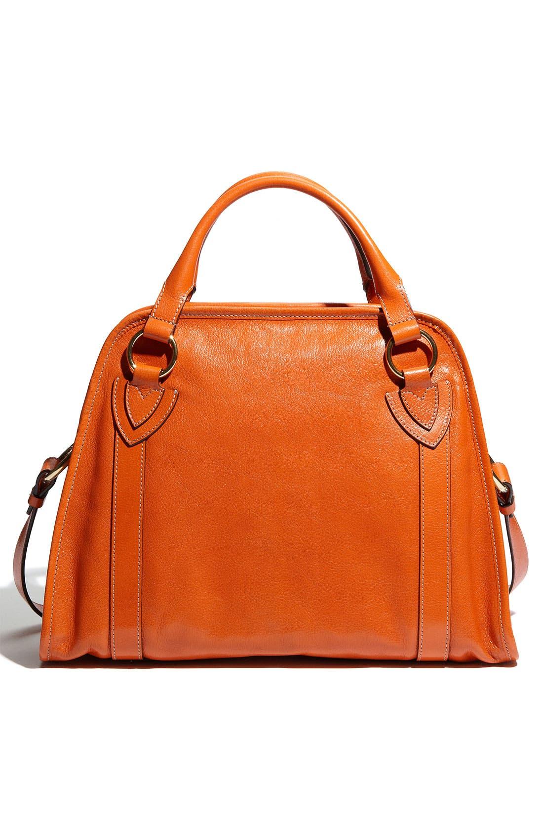 'Classic Wellington' Leather Satchel,                             Alternate thumbnail 33, color,