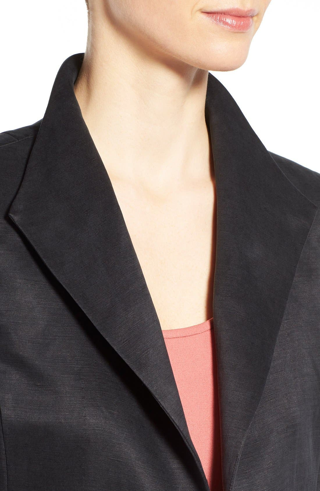 High Collar Long Jacket,                             Alternate thumbnail 9, color,