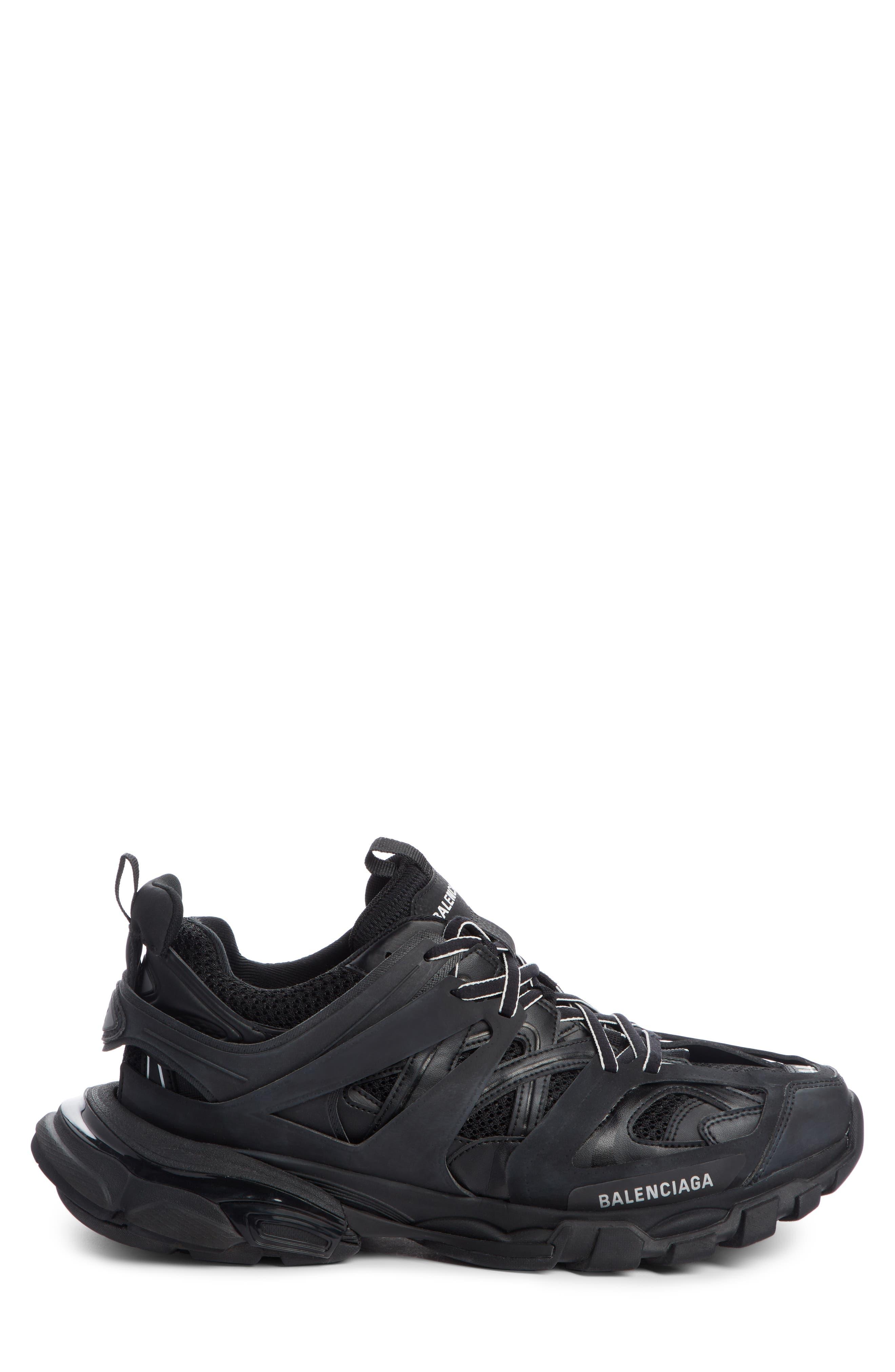Track Sneaker,                             Alternate thumbnail 3, color,                             BLACK