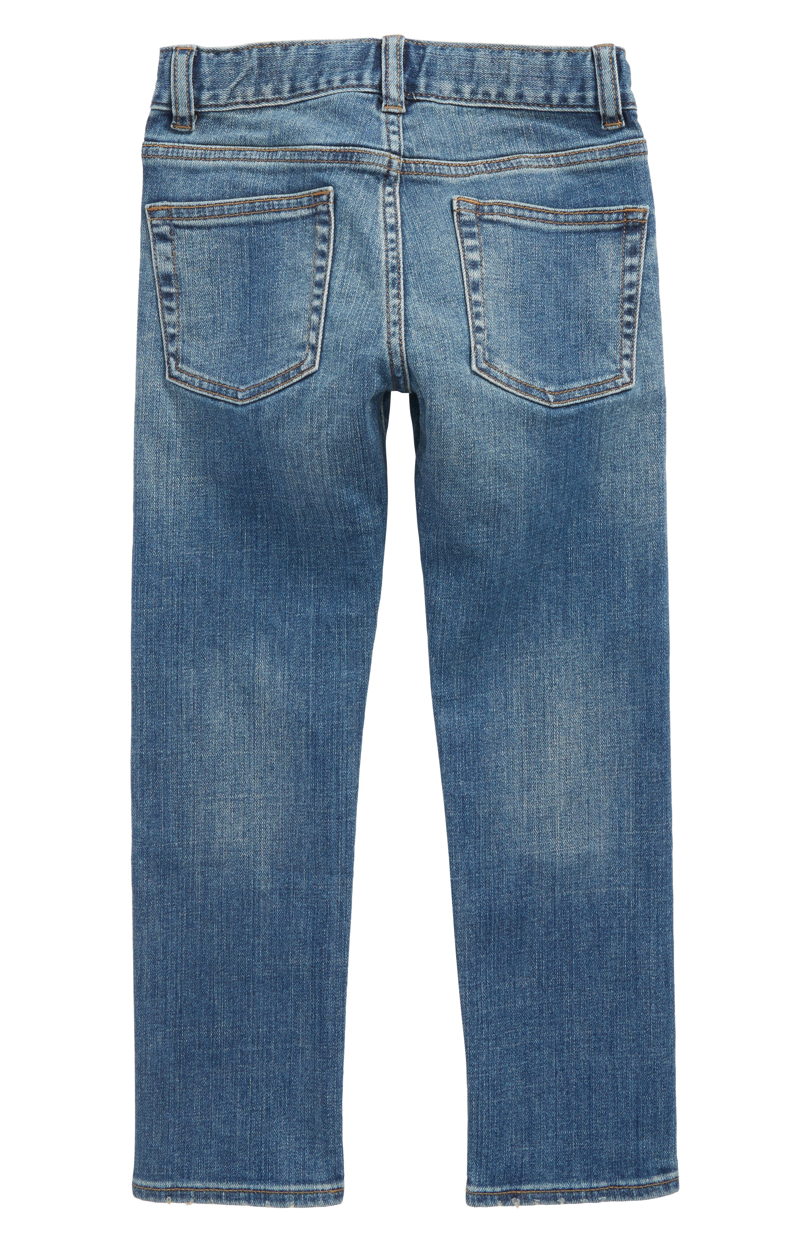 Slim Fit Rugged Wash Jeans,                             Alternate thumbnail 2, color,                             400
