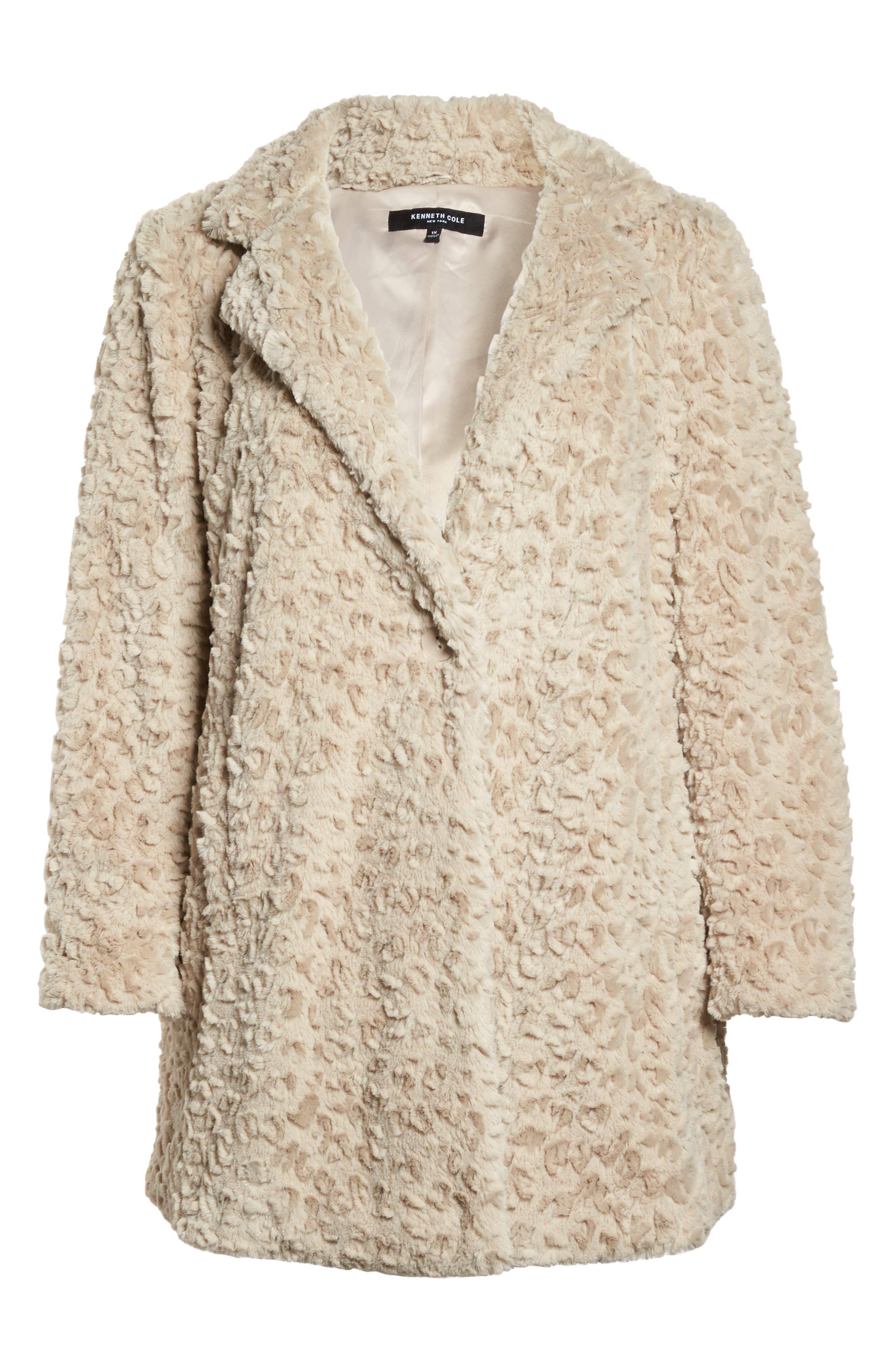 Faux Fur Jacket,                             Alternate thumbnail 5, color,                             260