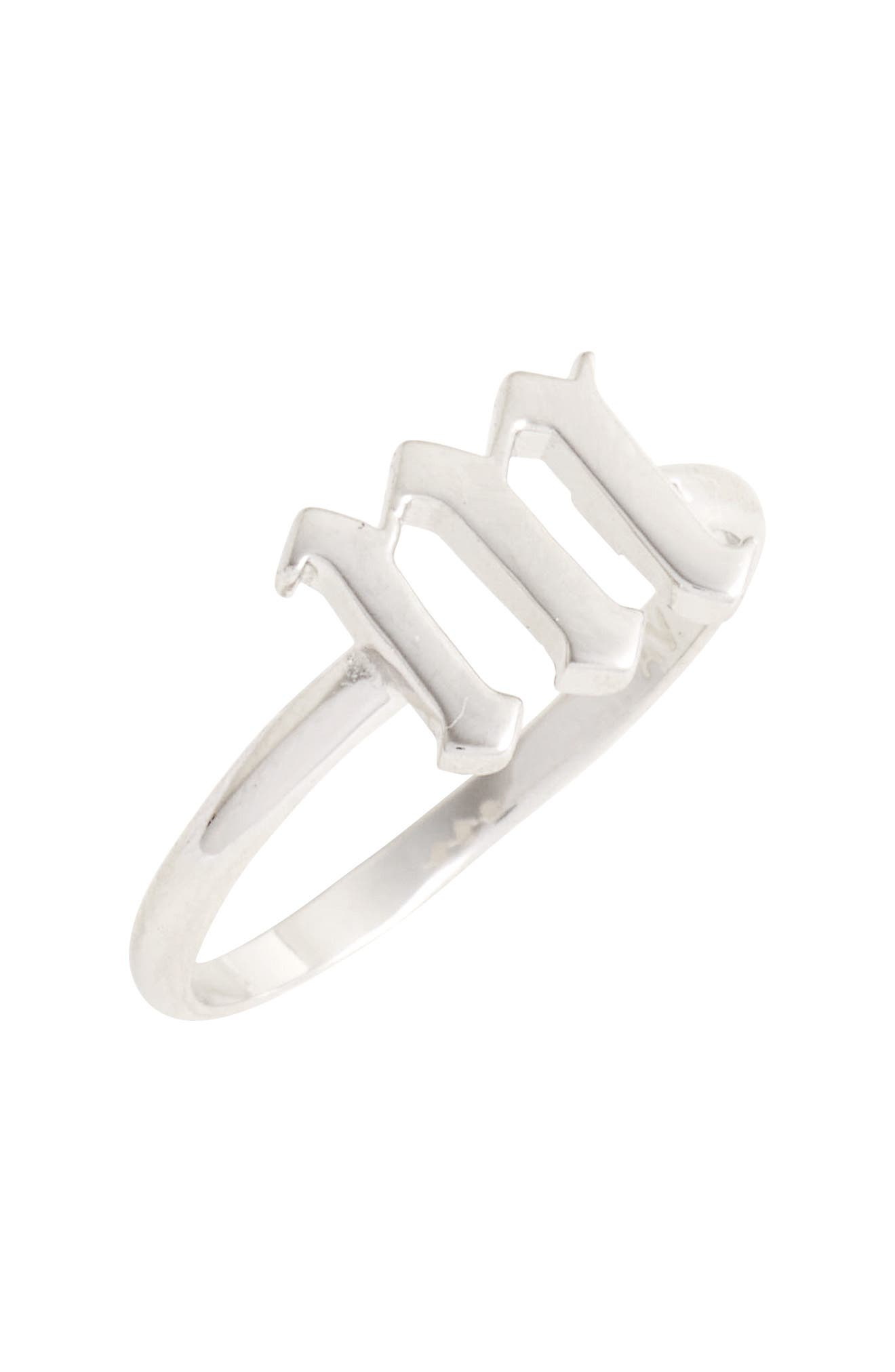 Gothic Initial Ring,                             Main thumbnail 10, color,