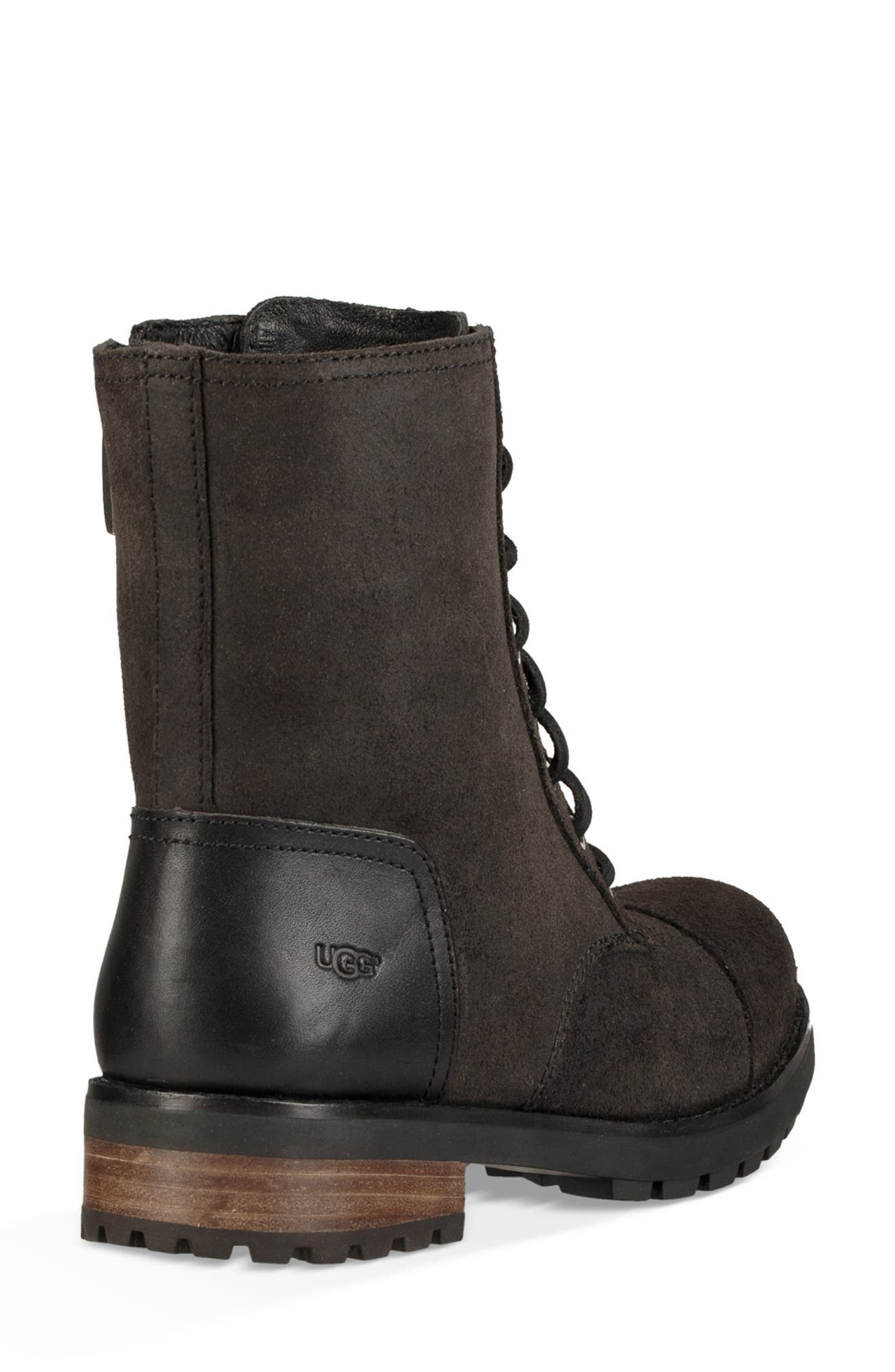 Kilmer II Genuine Shearling Lined Water Resistant Bootie,                             Alternate thumbnail 2, color,                             BLACK LEATHER
