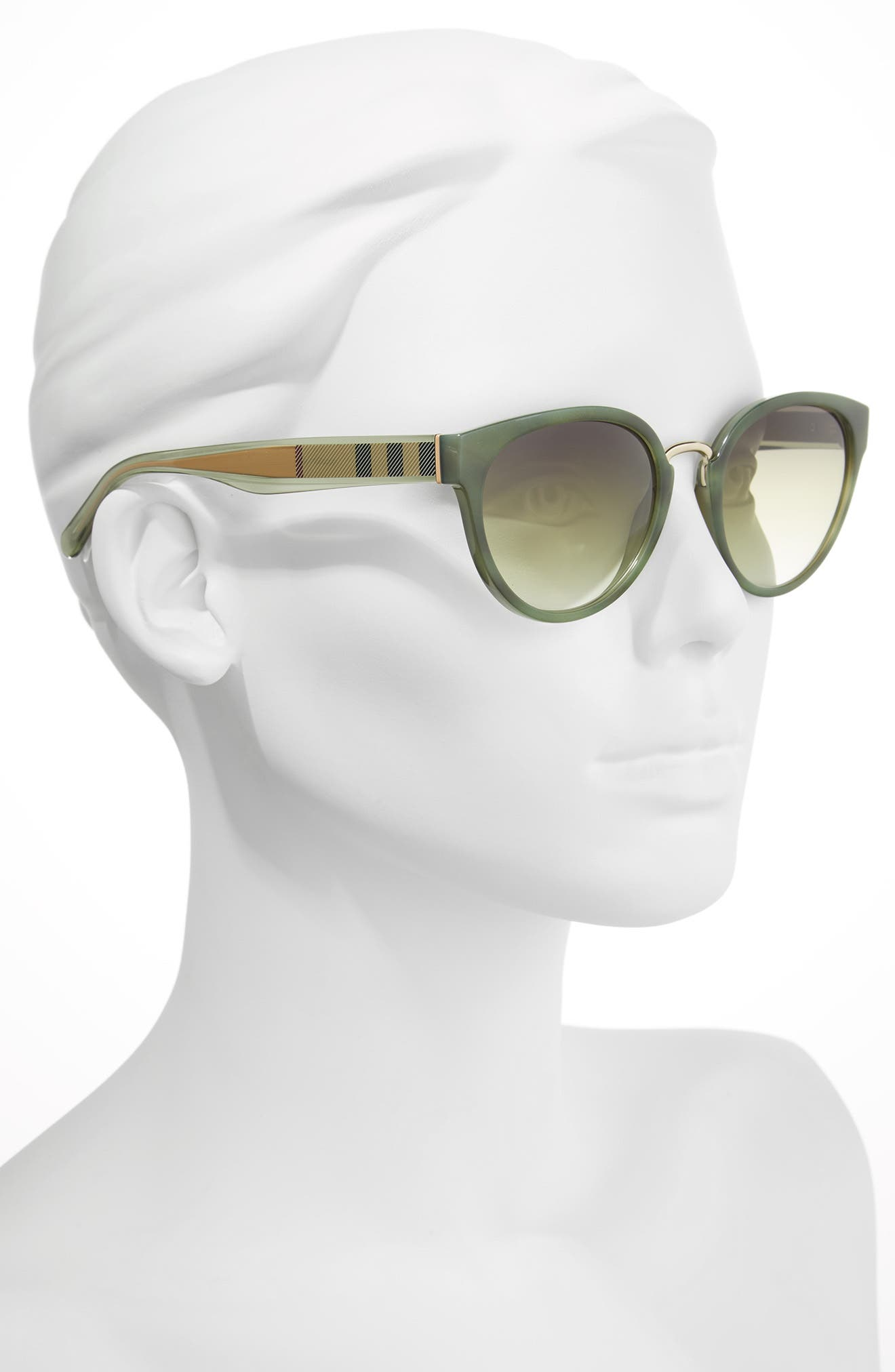53mm Gradient Cat Eye Sunglasses,                             Alternate thumbnail 8, color,