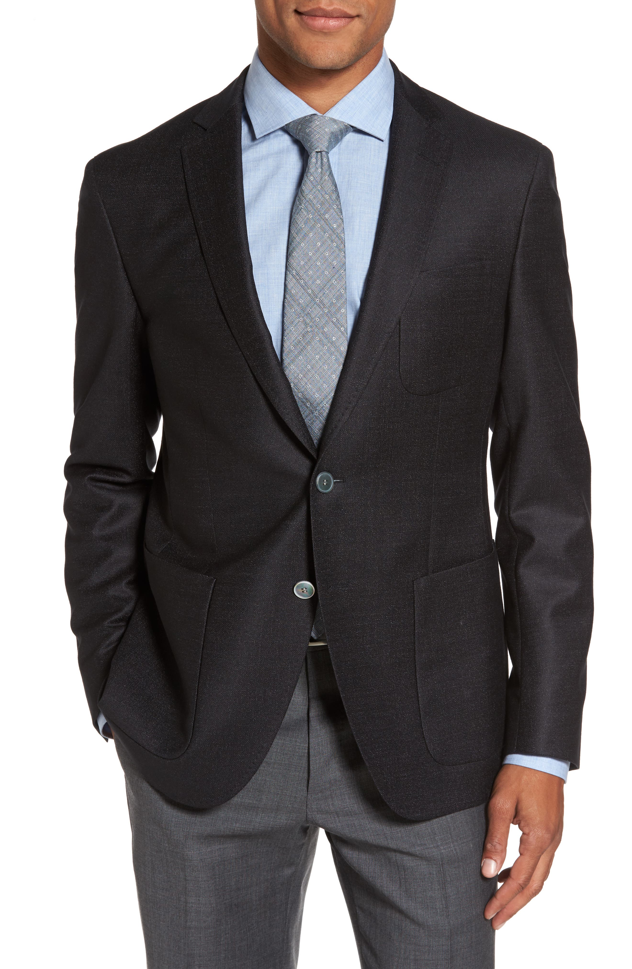 Raye Extra Trim Fit Wool Blend Blazer,                             Main thumbnail 1, color,