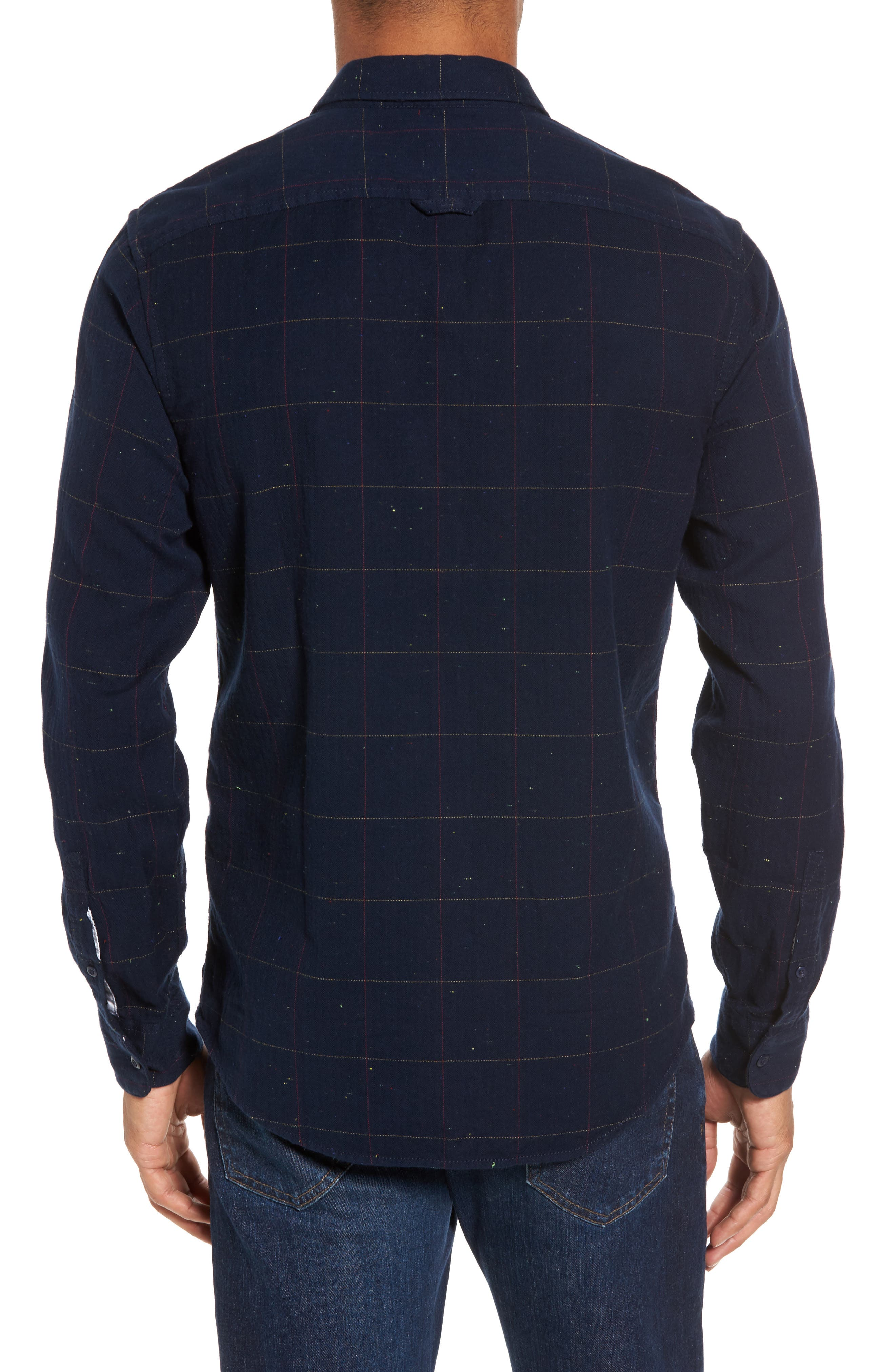 Herringbone Plaid Flannel Shirt,                             Alternate thumbnail 2, color,                             411