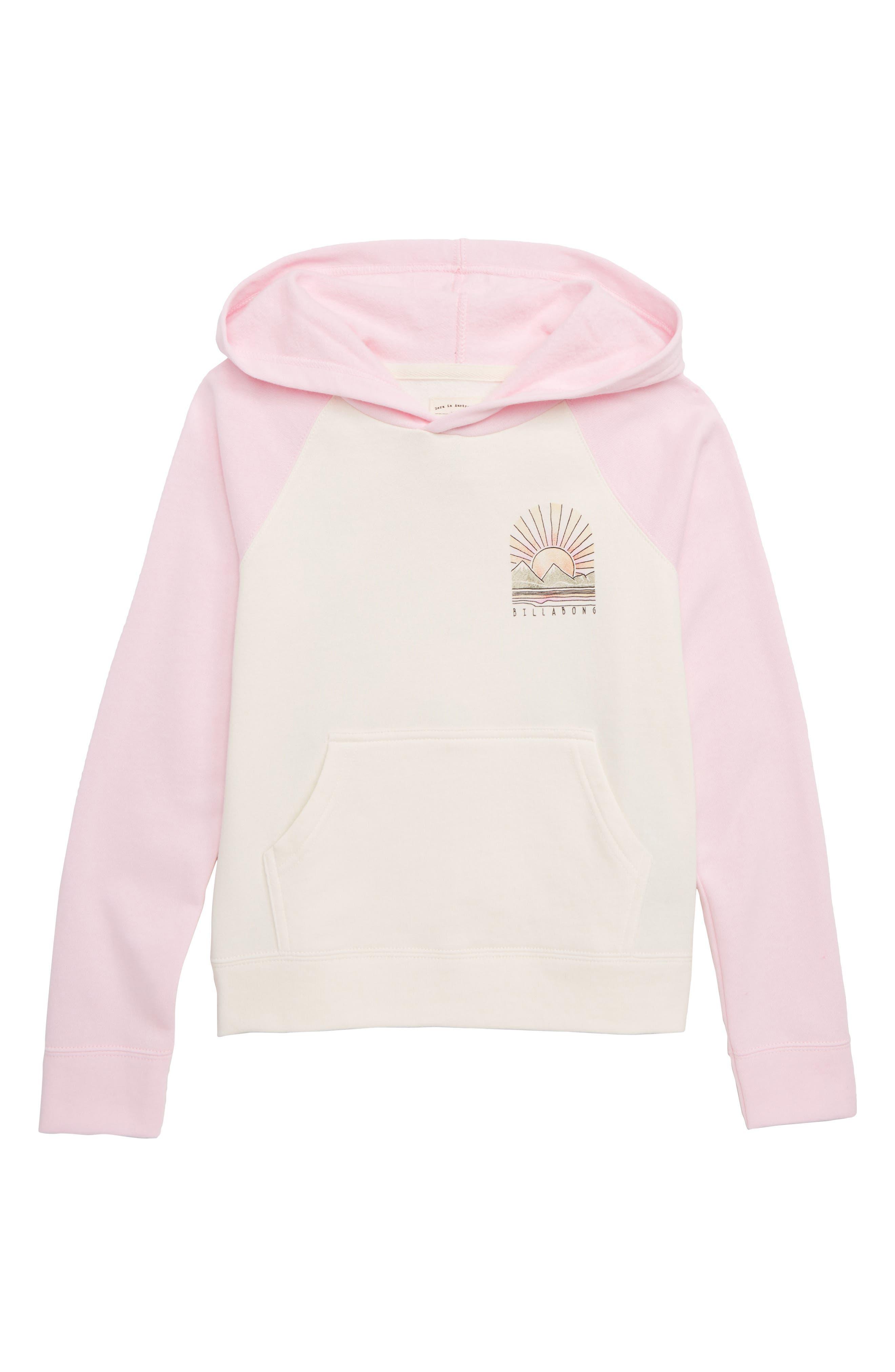 Block Party Hooded Pullover Sweatshirt,                         Main,                         color, BUBBLE GUM