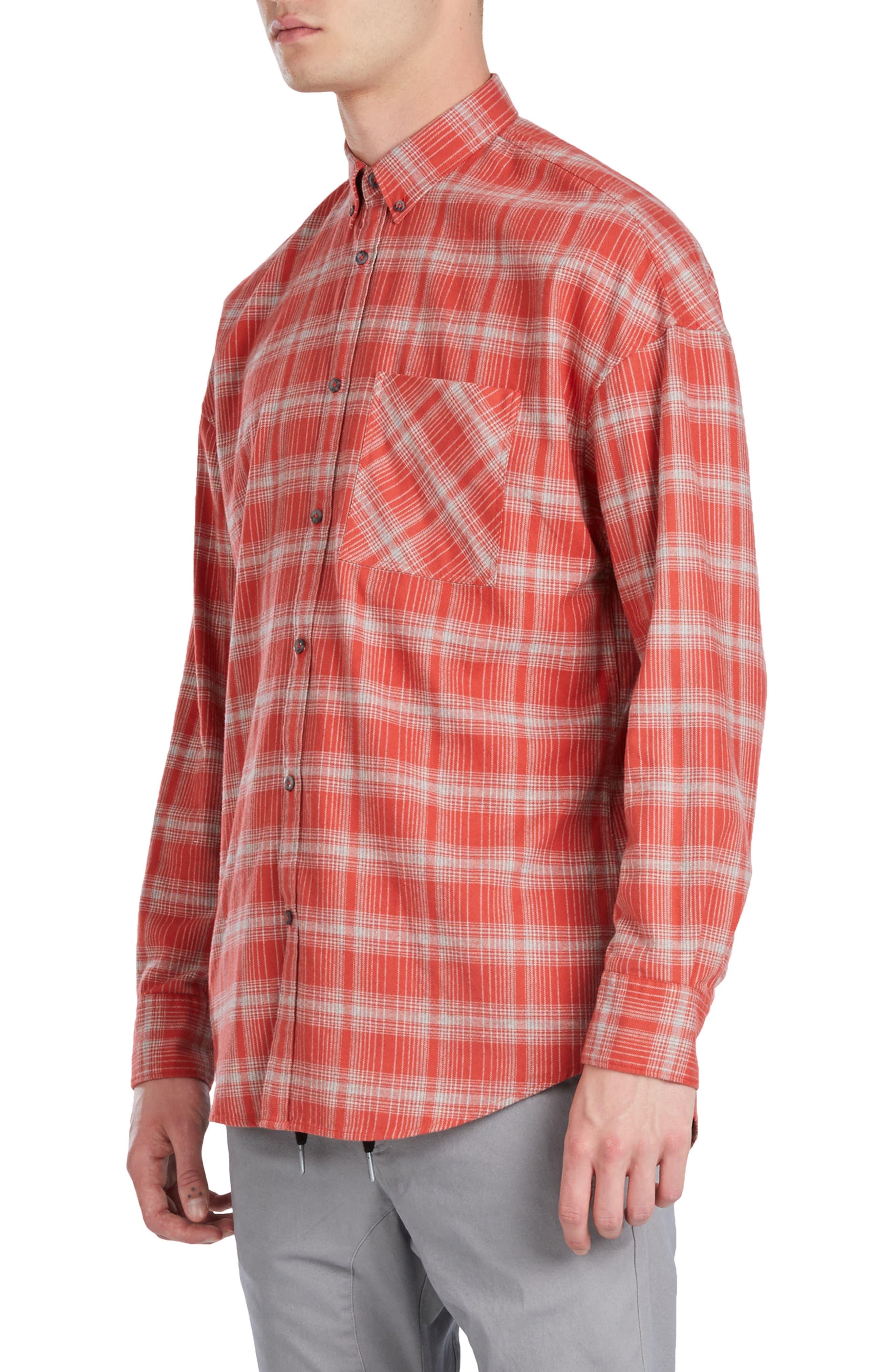 Rugger Plaid Sport Shirt,                             Alternate thumbnail 3, color,                             641