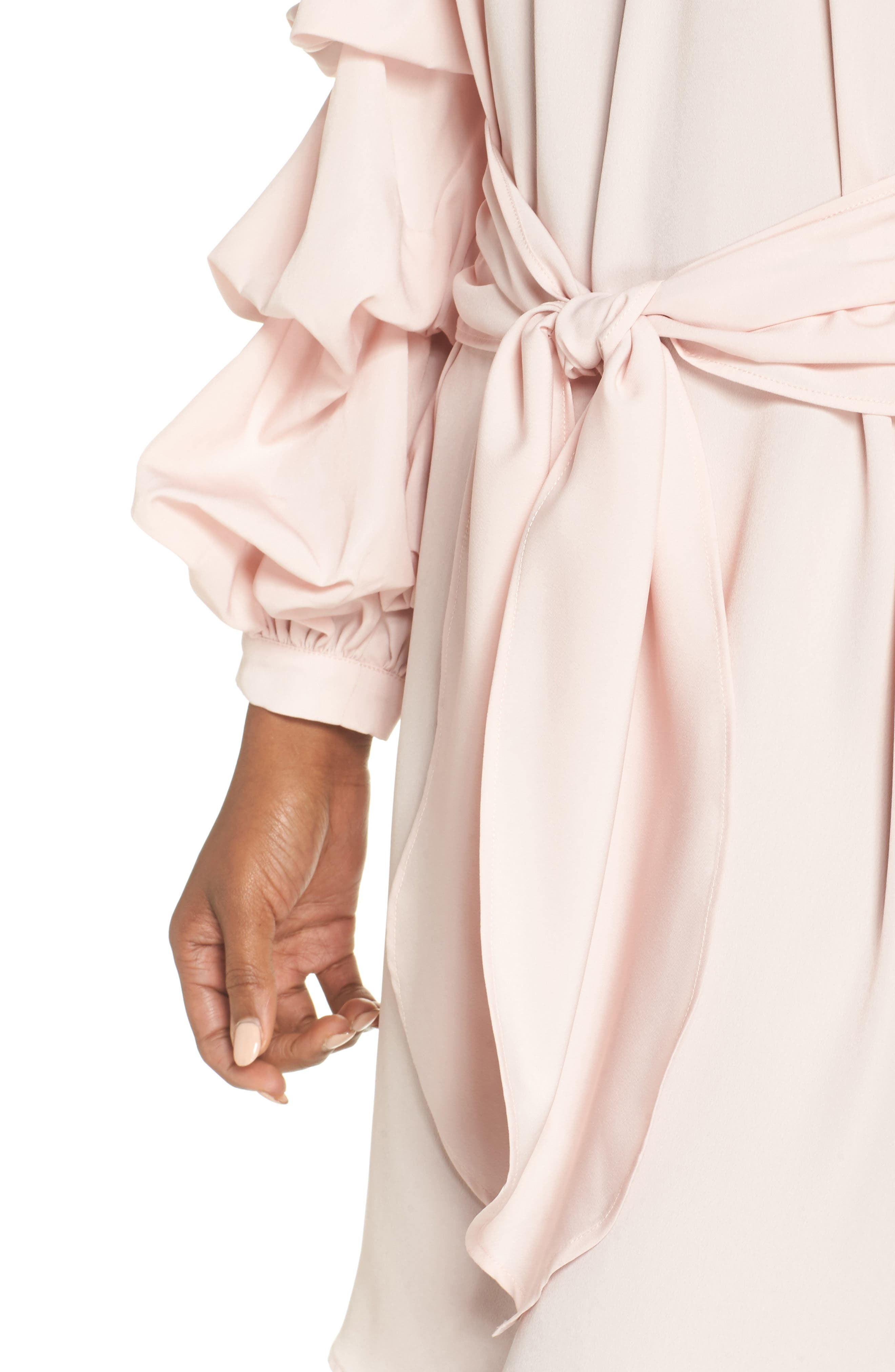 Off the Shoulder Tiered Sleeve Dress,                             Alternate thumbnail 12, color,