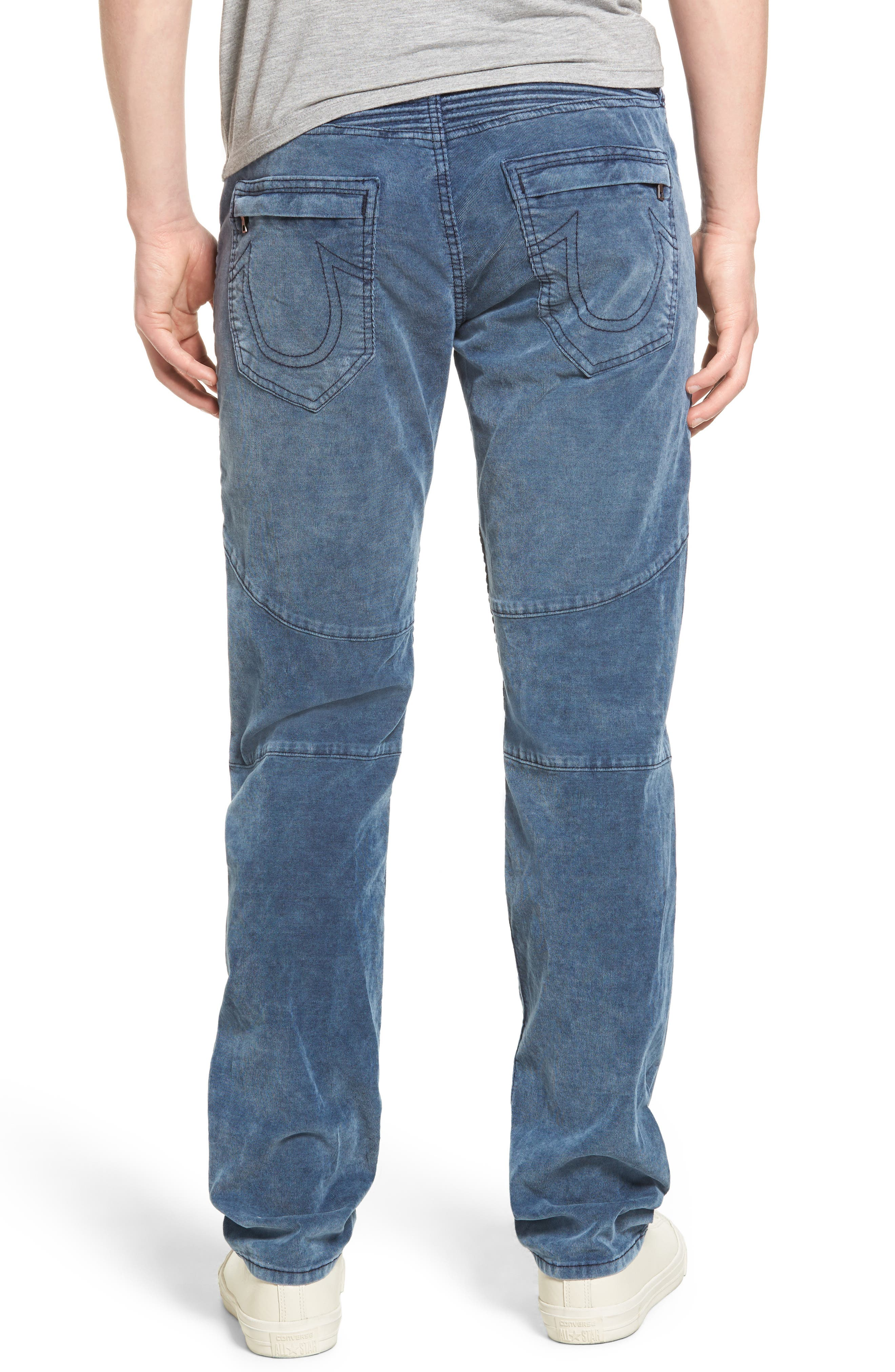Geno Straight Leg Corduroy Moto Pants,                             Alternate thumbnail 2, color,                             401