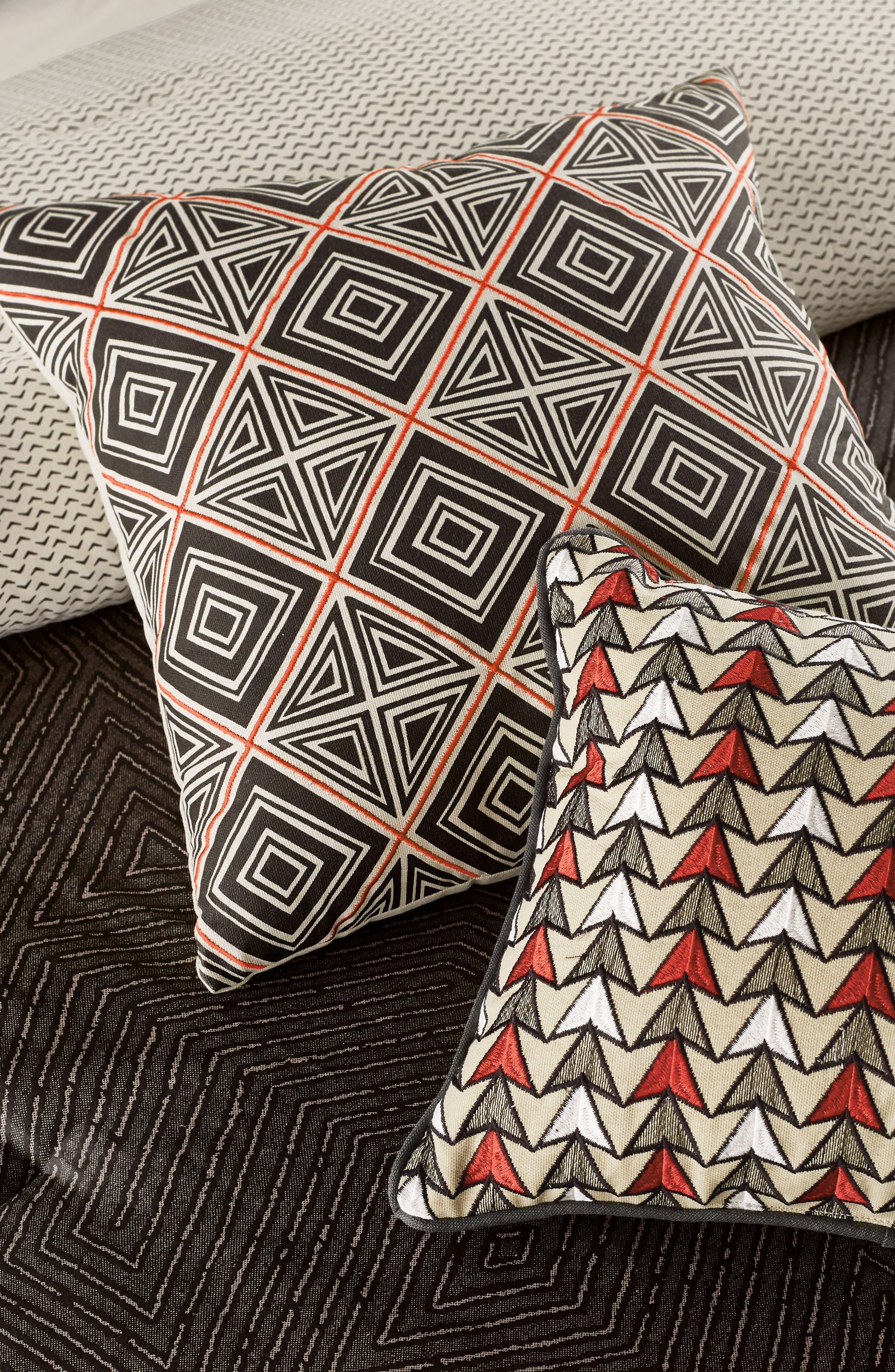 BEDECK,                             Arro Comforter, Sham & Accent Pillow Set,                             Alternate thumbnail 7, color,                             CHARCOAL