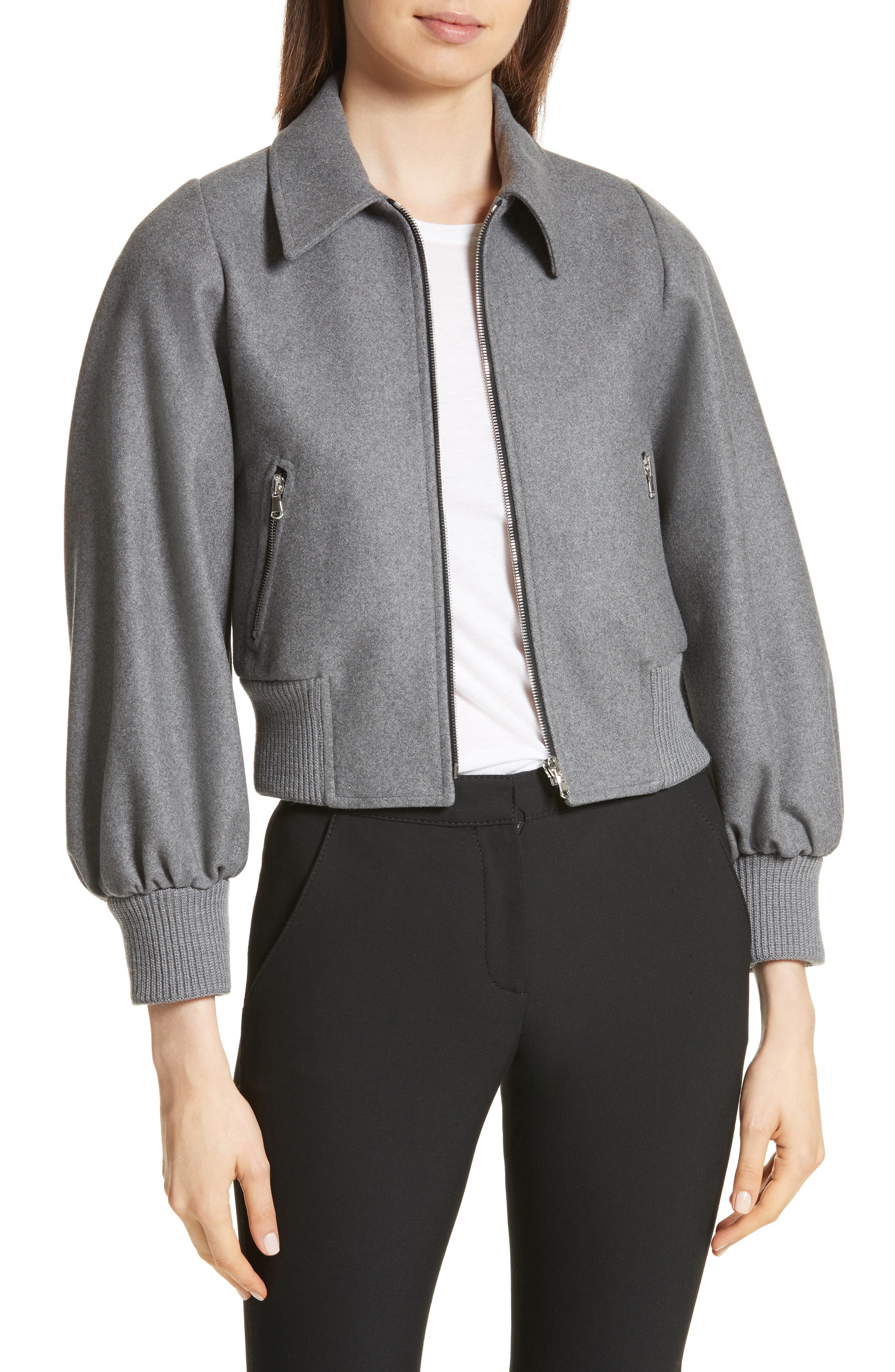 Mélange Wool Blend Jacket,                             Main thumbnail 1, color,                             026