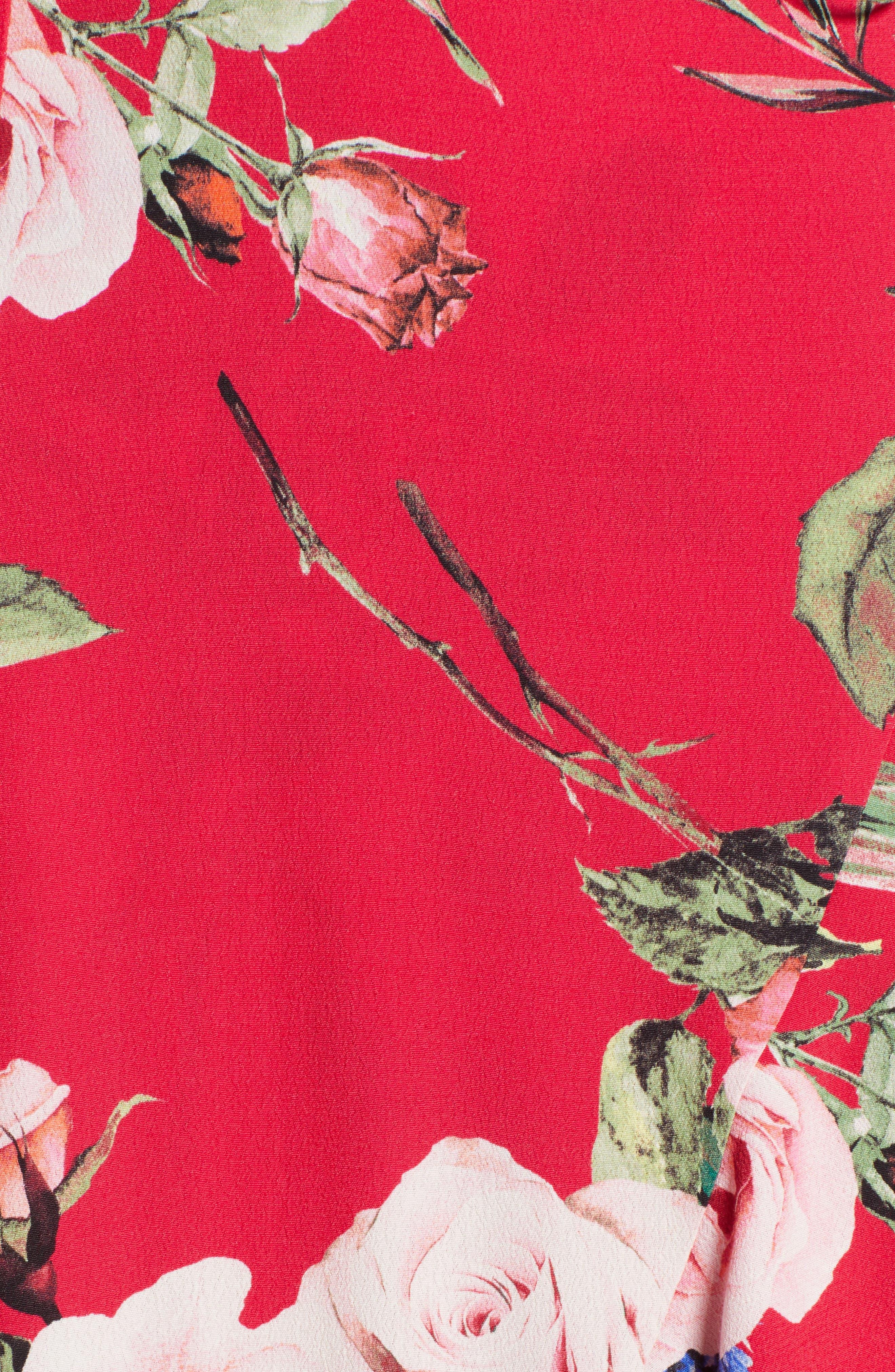 Bowen Wrap Maxi Dress,                             Alternate thumbnail 6, color,                             600