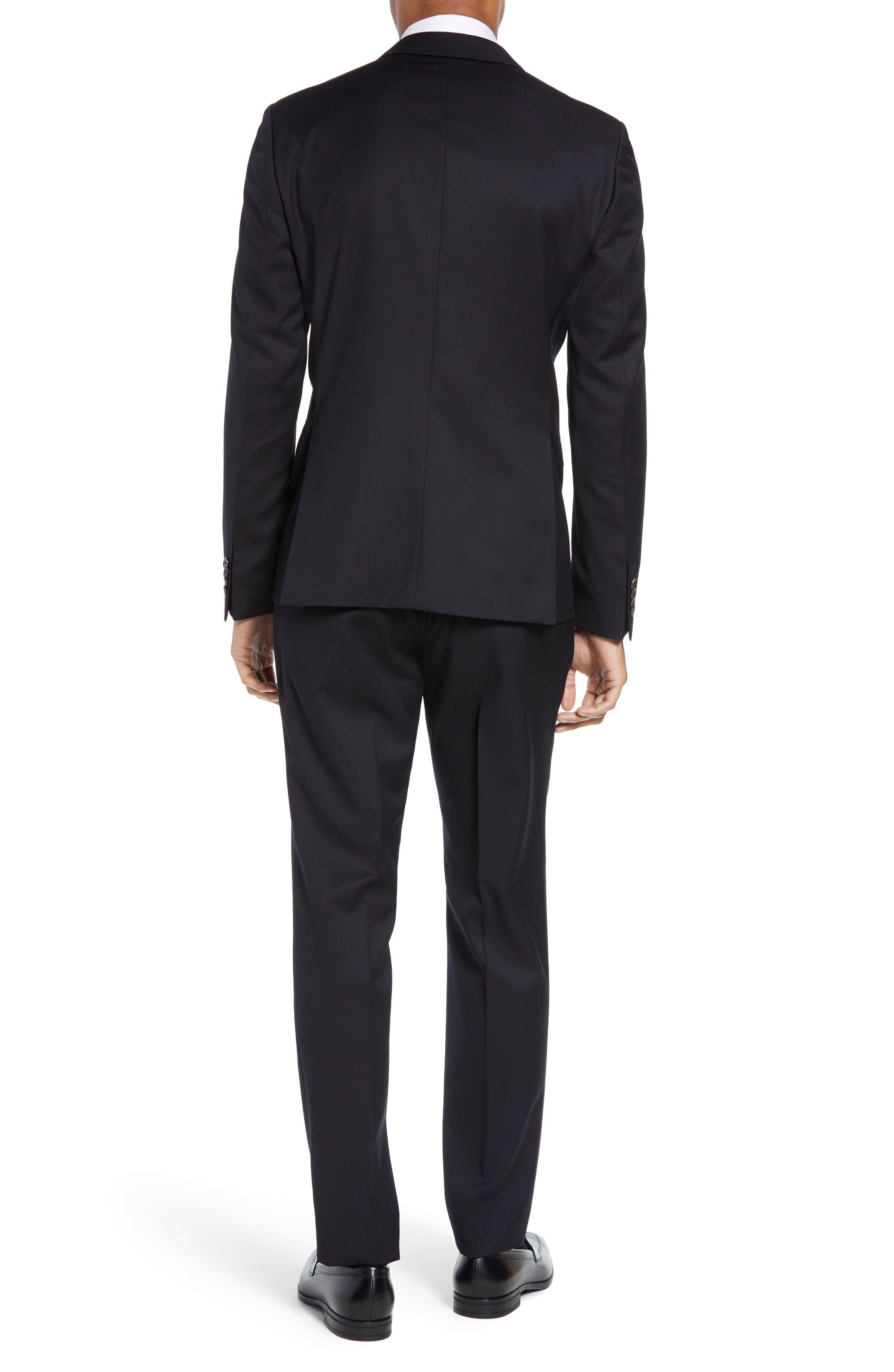 Reymond/Wenten Extra Trim Fit Solid Wool Suit,                             Alternate thumbnail 2, color,                             DARK PURPLE