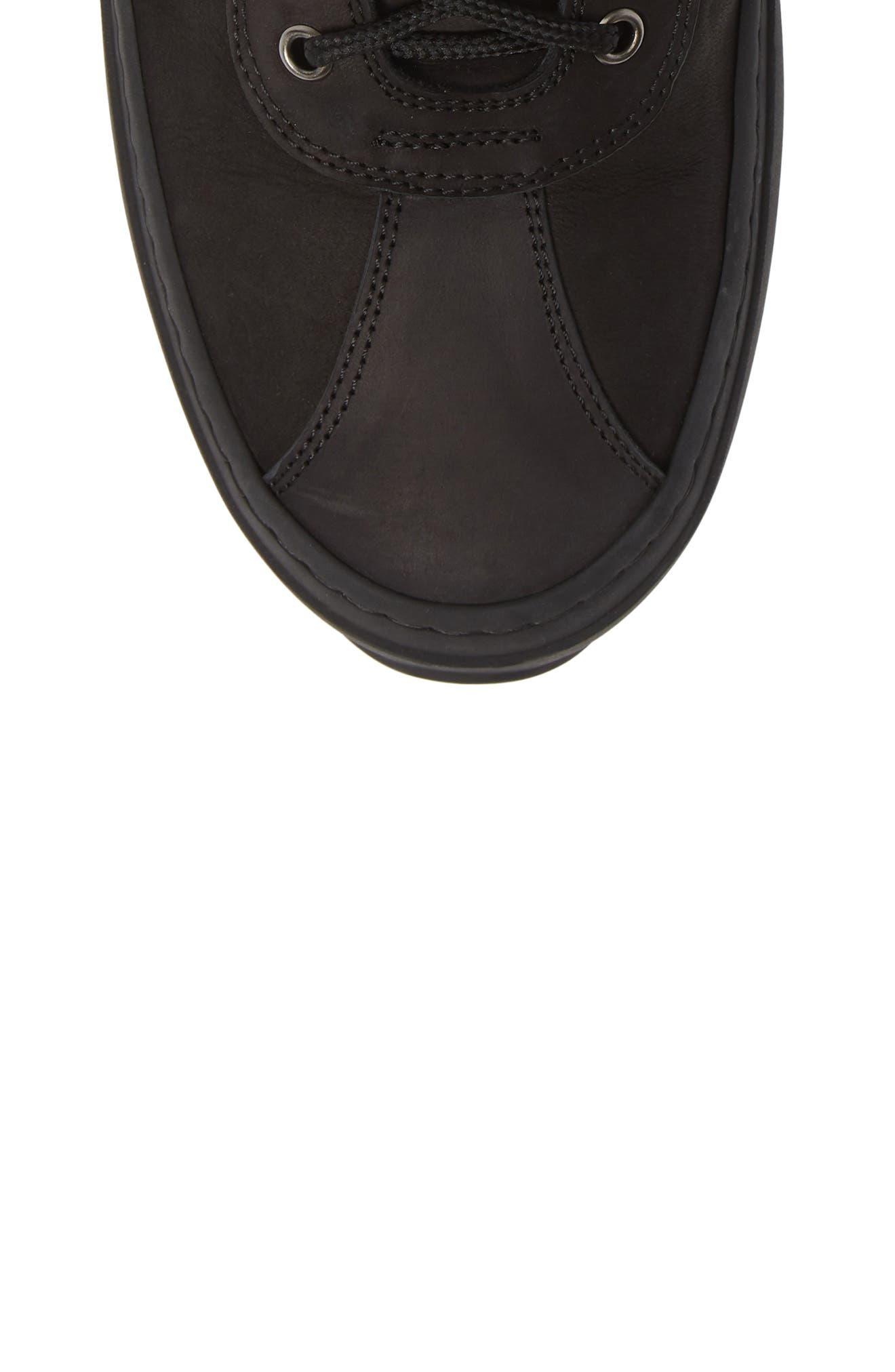 Hiker Street Sneaker,                             Alternate thumbnail 5, color,                             BLACK LEATHER